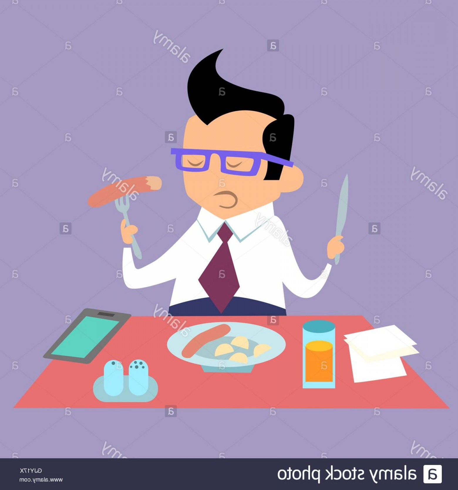 Business Lunch Clip Art Vector: Stock Photo Business Lunch Office Worker