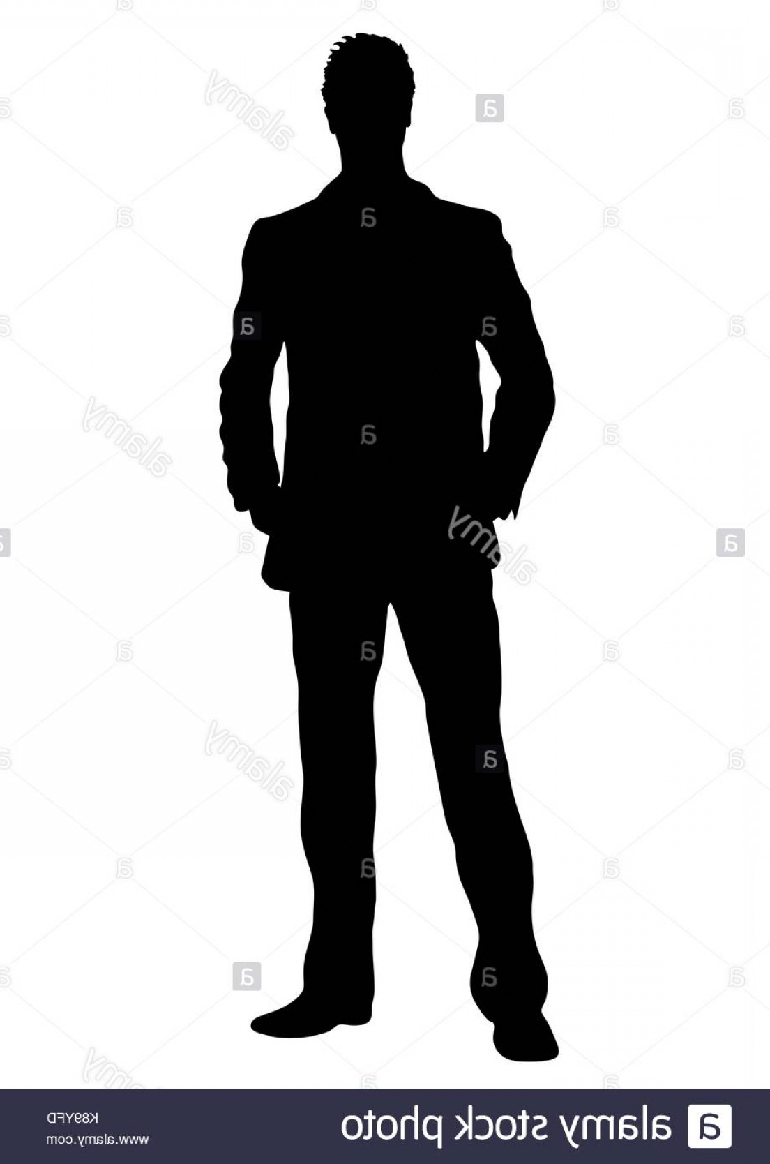 Male Silhouette Vector Art: Stock Photo Business Man Vector Silhouette Outline Portrait Male Managing In Costume