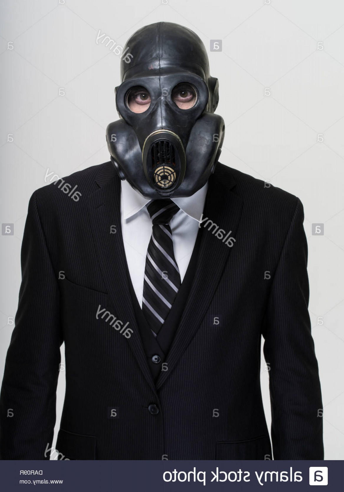 Gas Mask Suit And Tie Vector: Stock Photo Businessman In Suit And Tie Wearing Gas Mask Toxic Banking