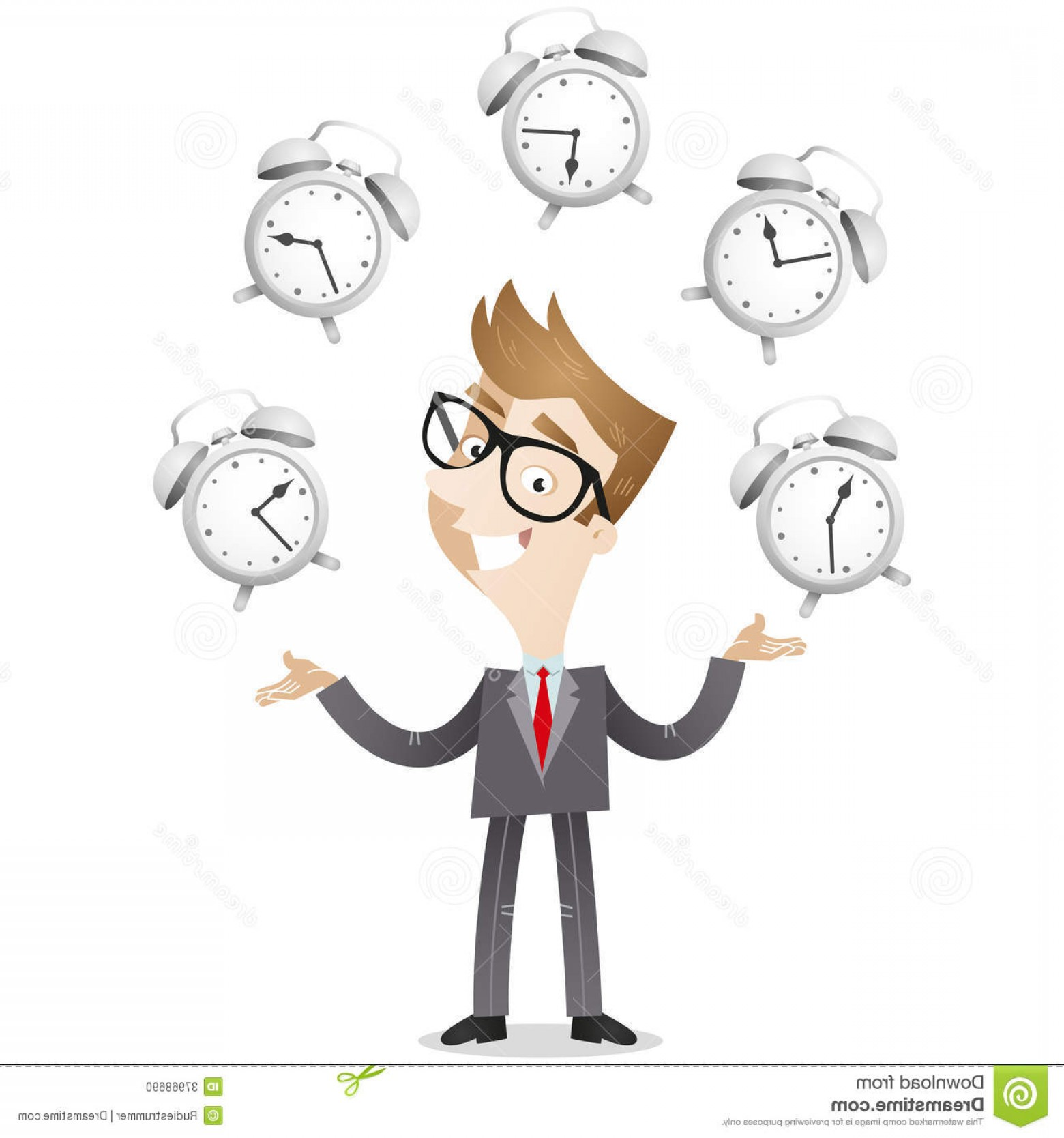 Nurse Juggling Vector: Stock Photo Businessman Juggling Alarm Clocks Vector Illustration Smiling Cartoon Symbolizing Time Management Image