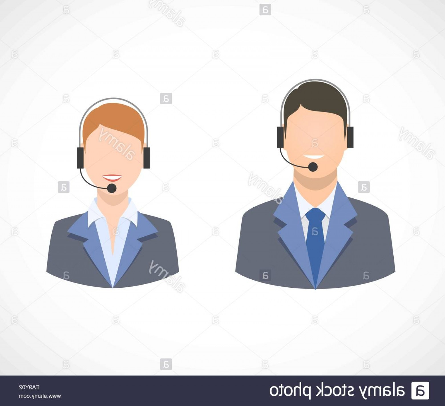 Support Staff Vector: Stock Photo Call Center Support Personnel Staff Icons Isolated Vector Illustration