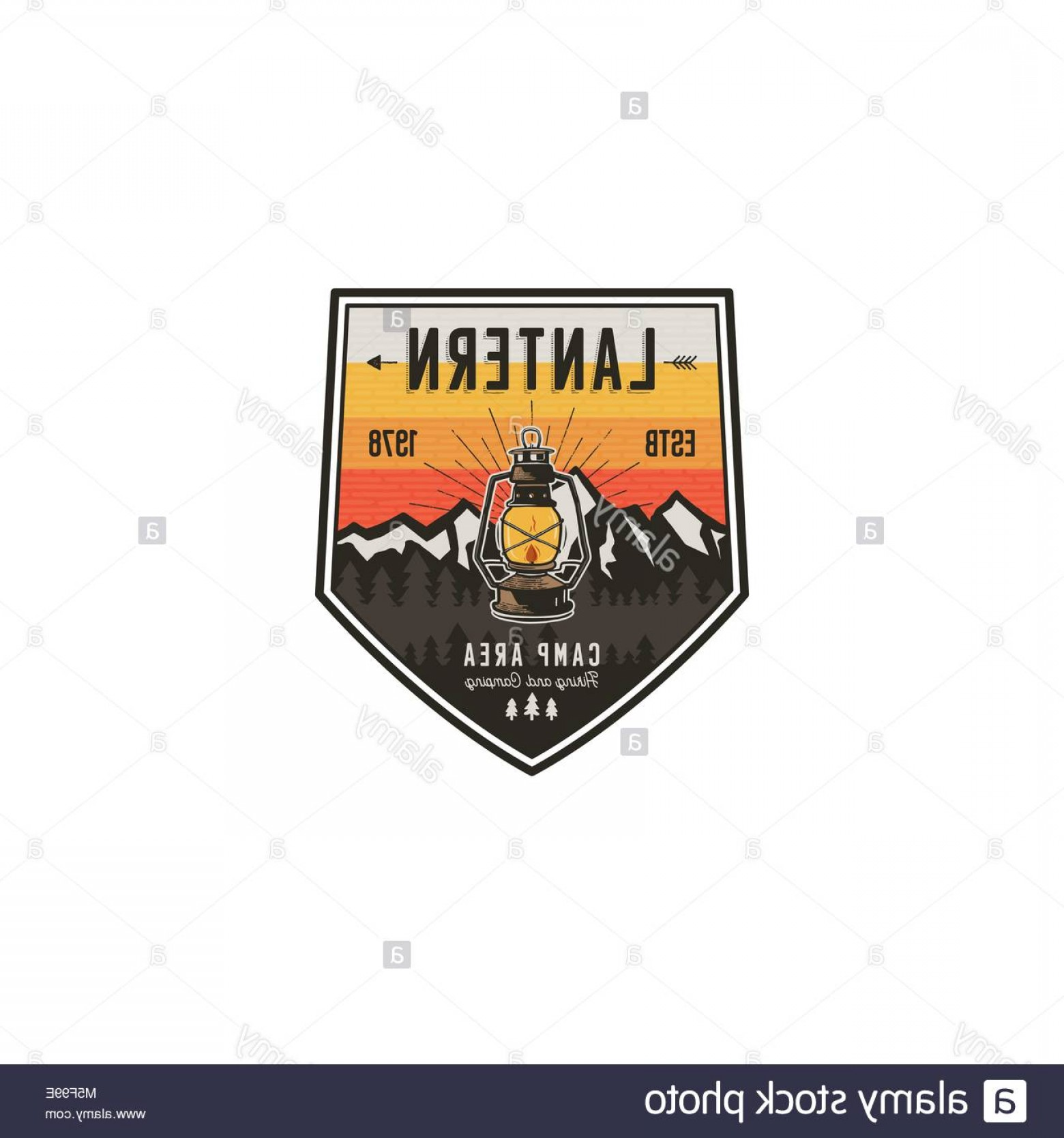 Hipster Logo Vectors Mountain: Stock Photo Camping And Hiking Vintage Badge Mountain Explorer Label Outdoor Adventure