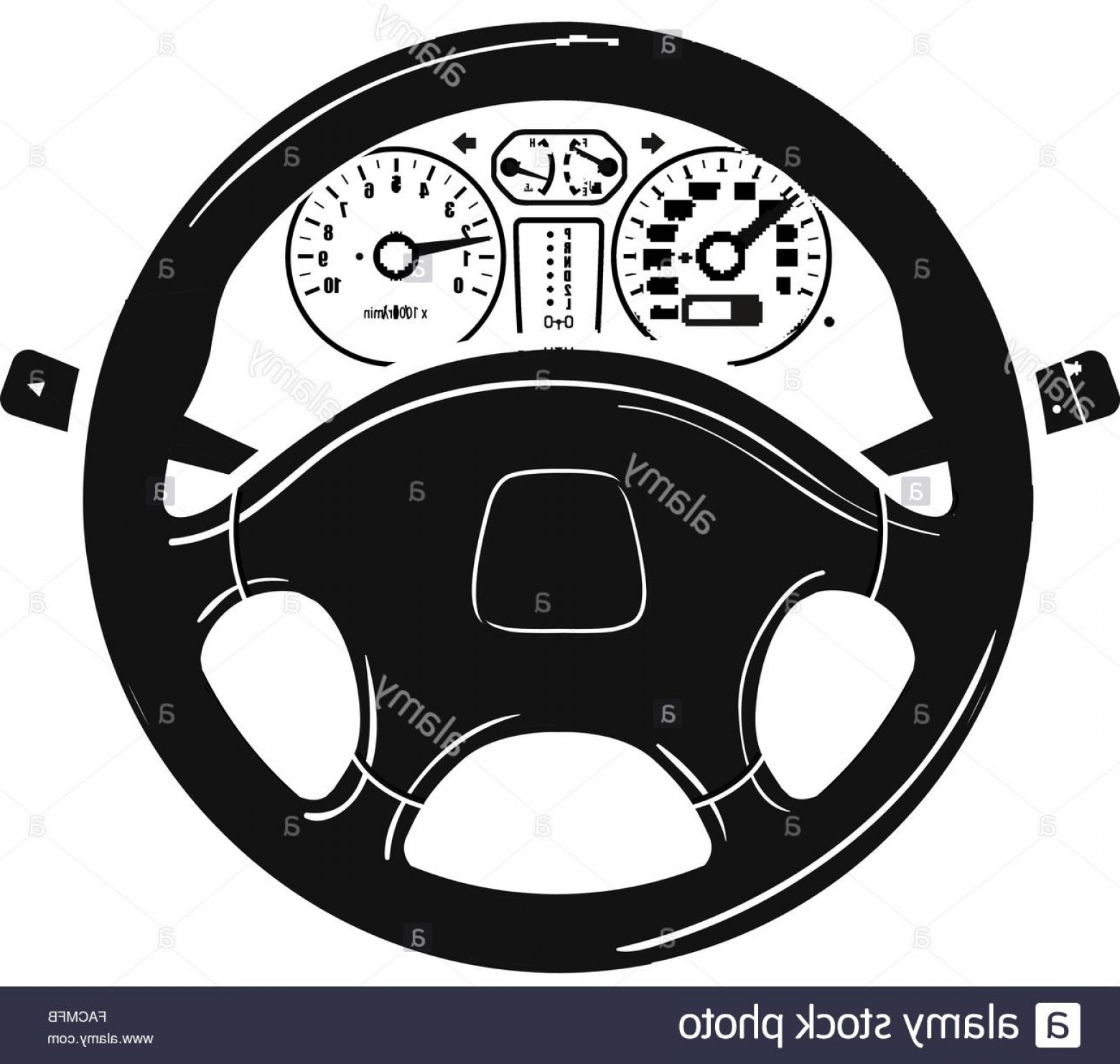 Auto Mobile Vector Art: Stock Photo Car Steering Wheel Vector Logo Design Template Vehicle Automobile