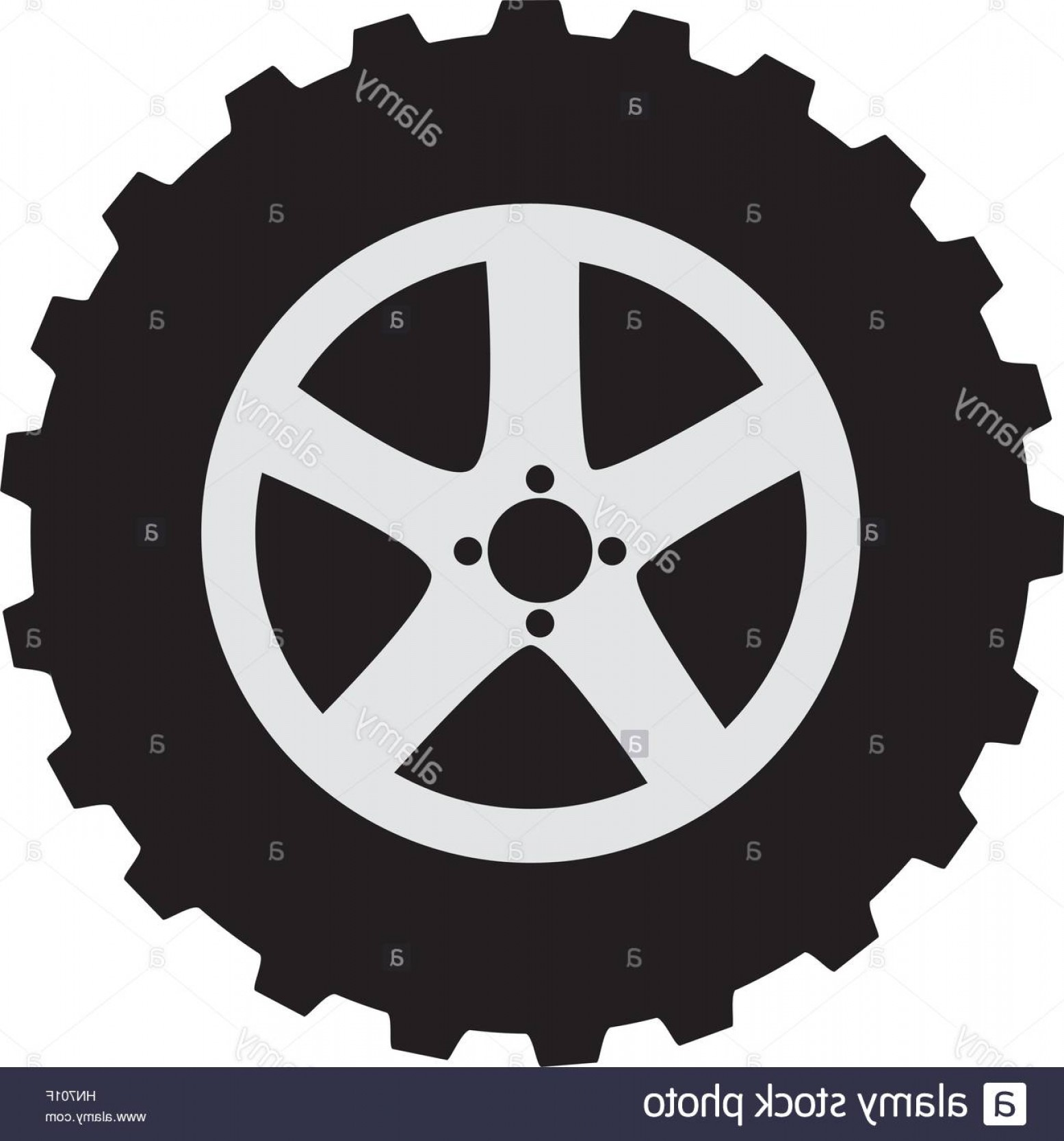 Tire Icon Vector: Stock Photo Car Wheel Tire Icon Vector Illustration Design