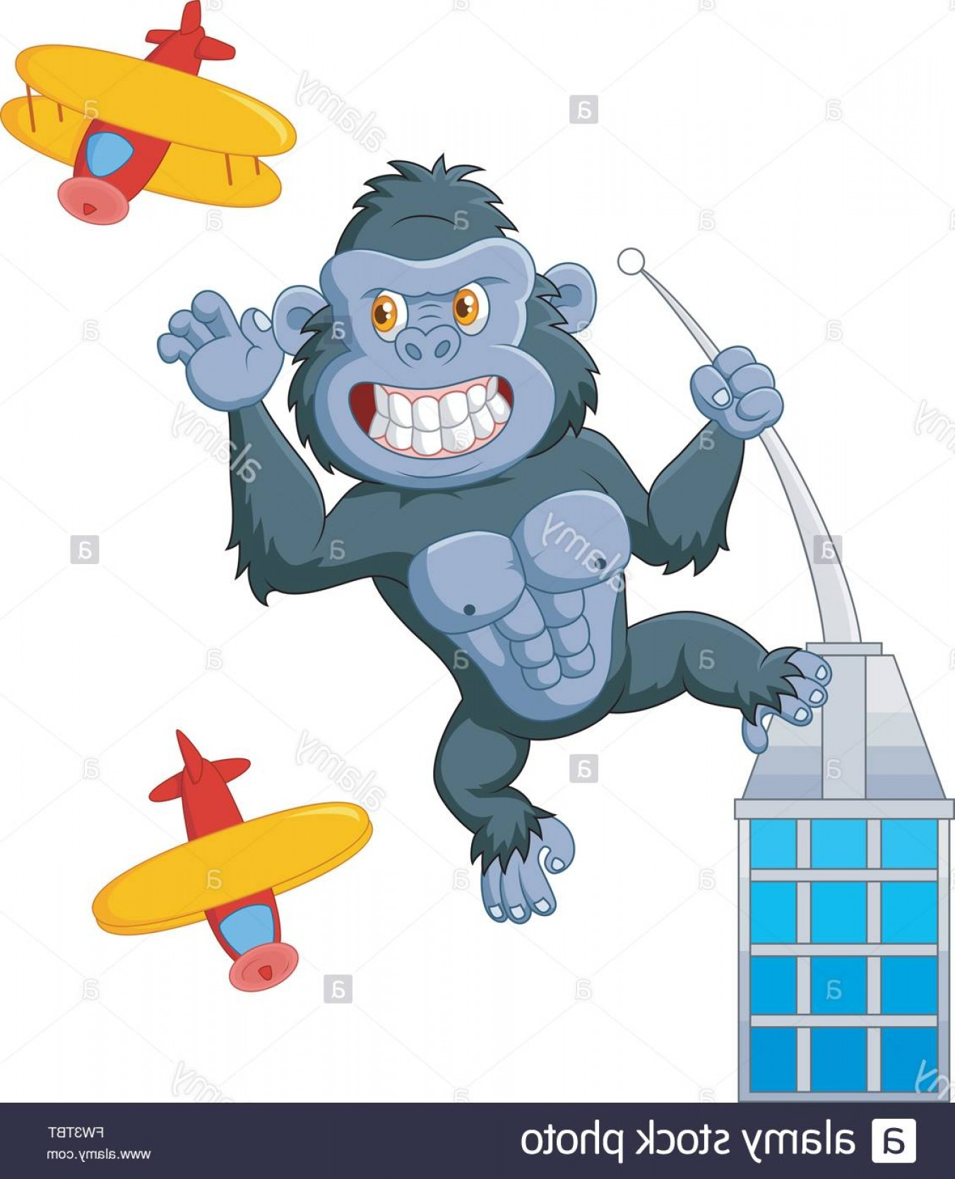 Drawings Of King Kong Vector: Stock Photo Cartoon Angry King Kong