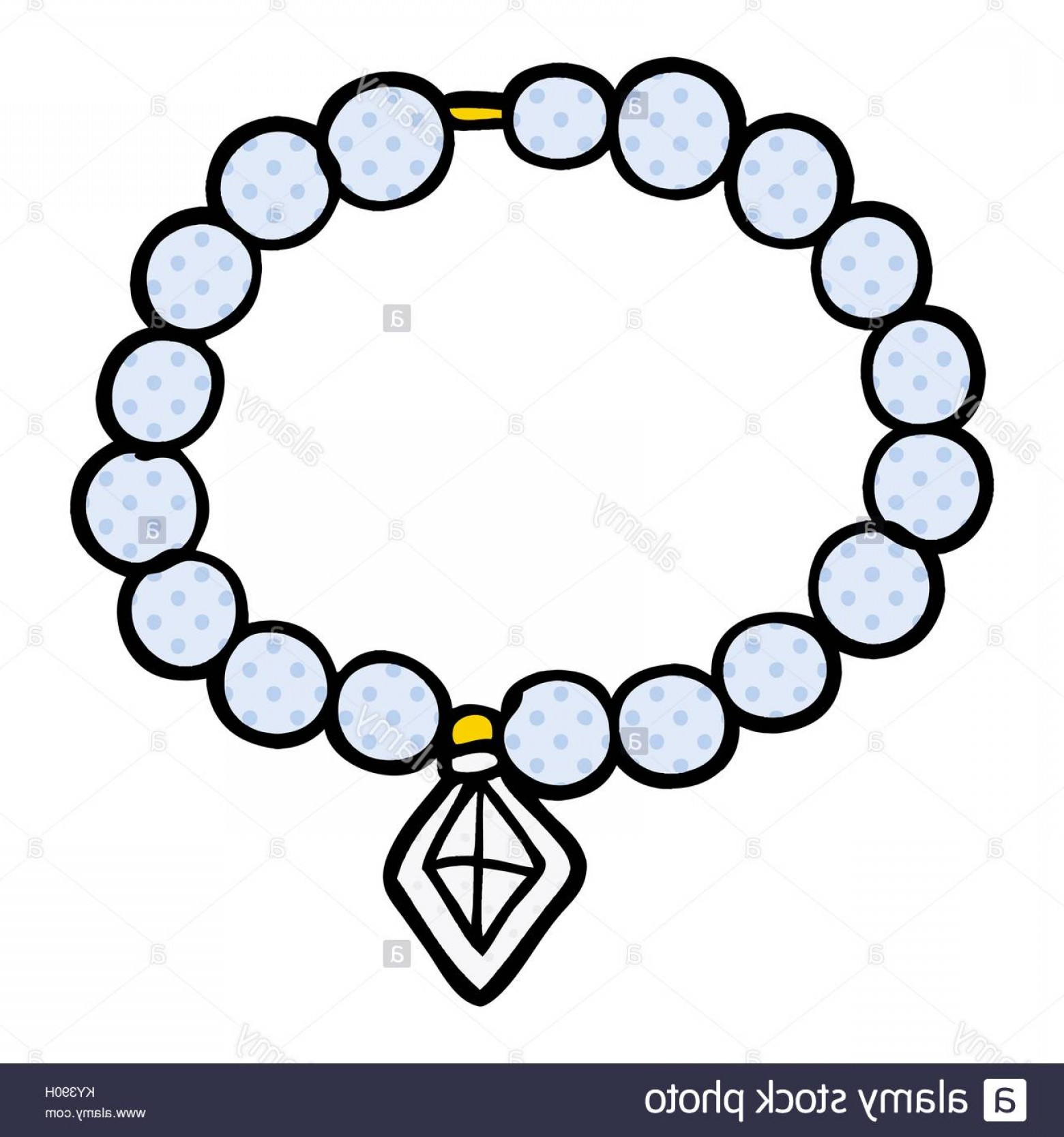 Pearl Necklace Vector Clip Art: Stock Photo Cartoon Pearl Necklace