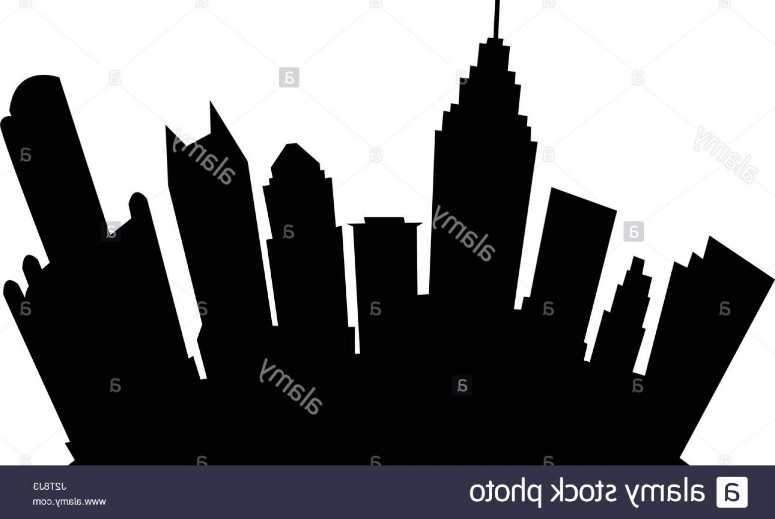 Vector Building Detroit: Stock Photo Cartoon Skyline Silhouette Of The City Of Detroit Michigan Usa