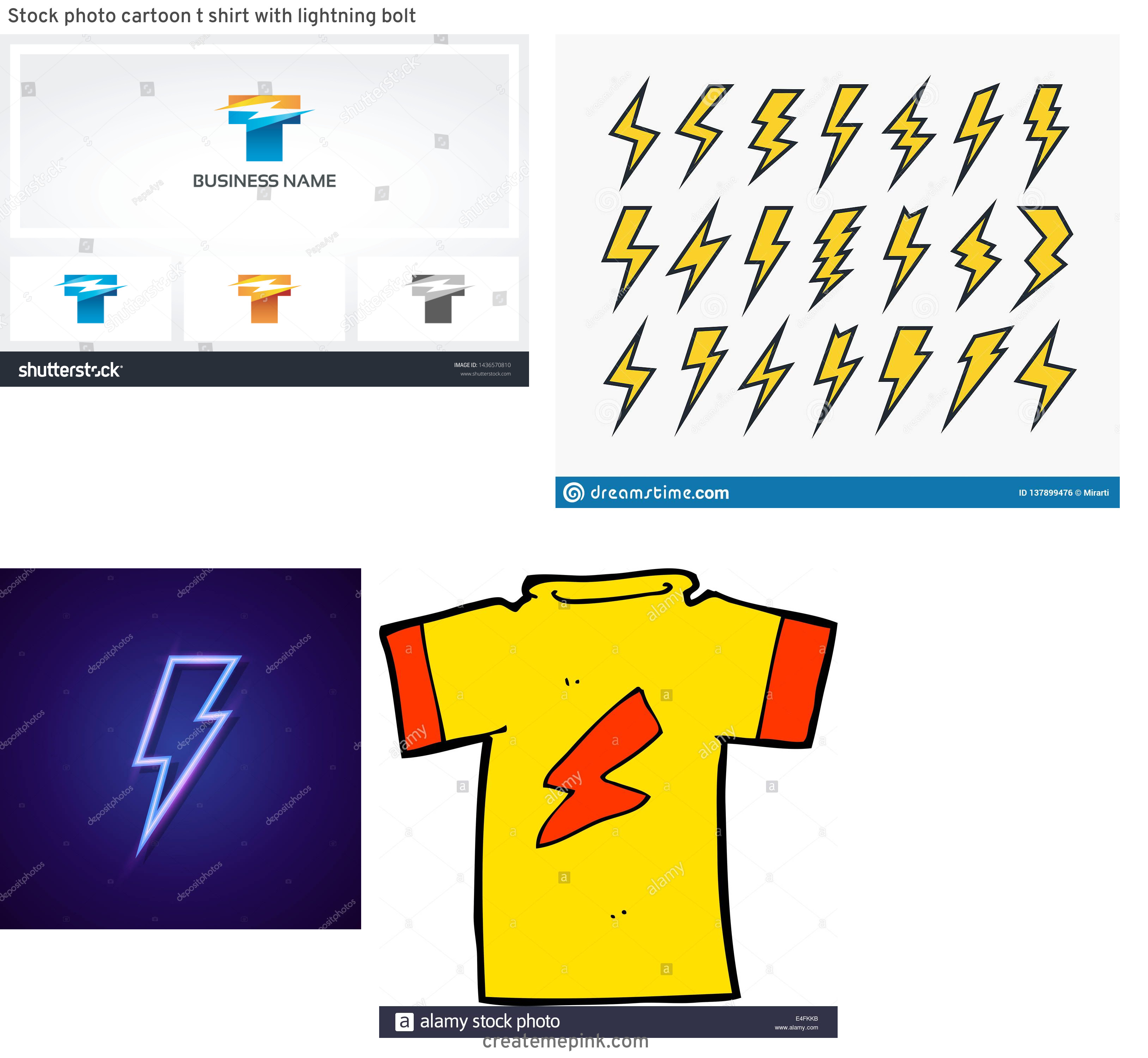 Lightning Vector T: Stock Photo Cartoon T Shirt With Lightning Bolt