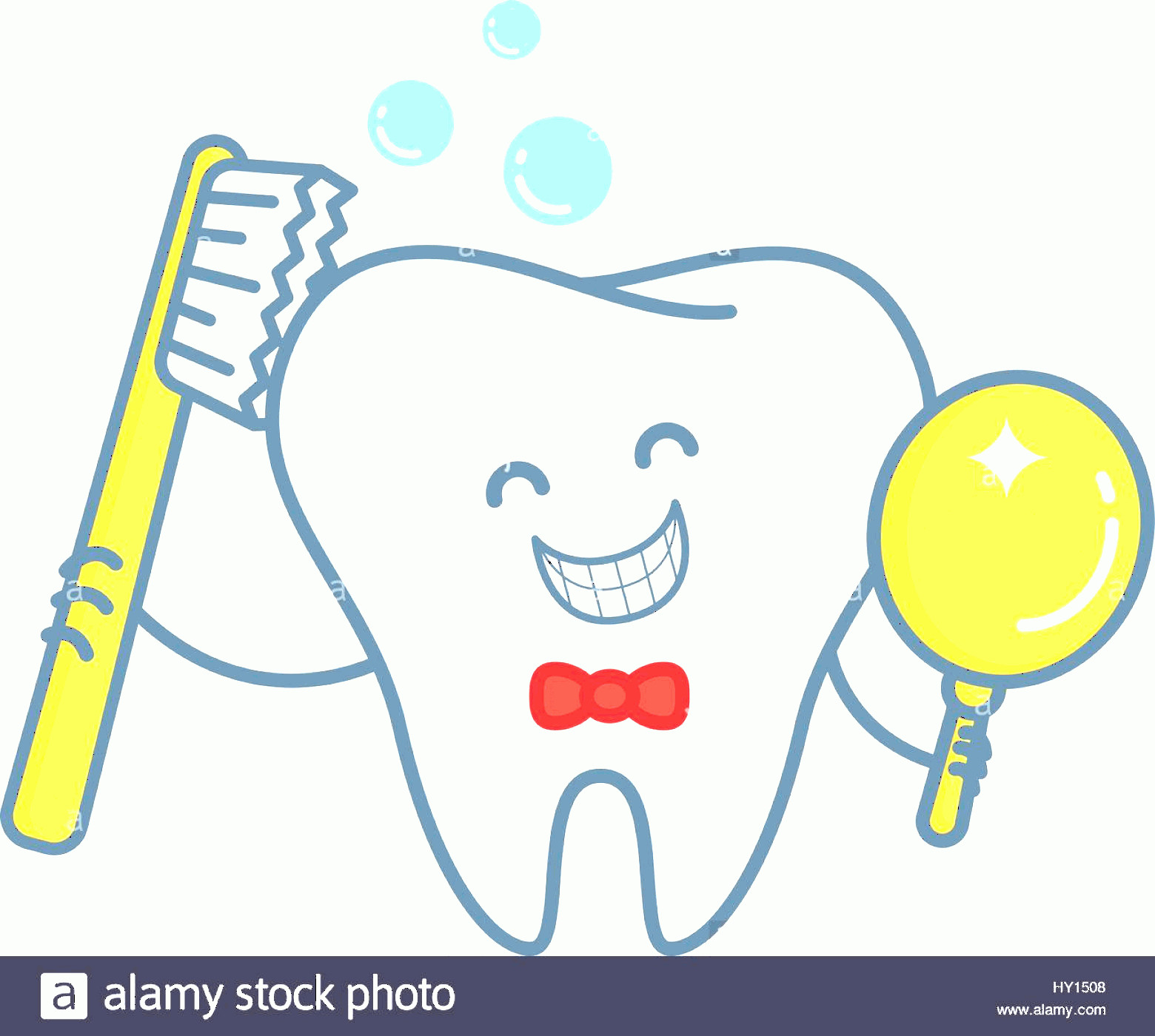 Toothpaste Cartoon Vector: Stock Photo Cartoon Tooth With Toothpaste And Mirror