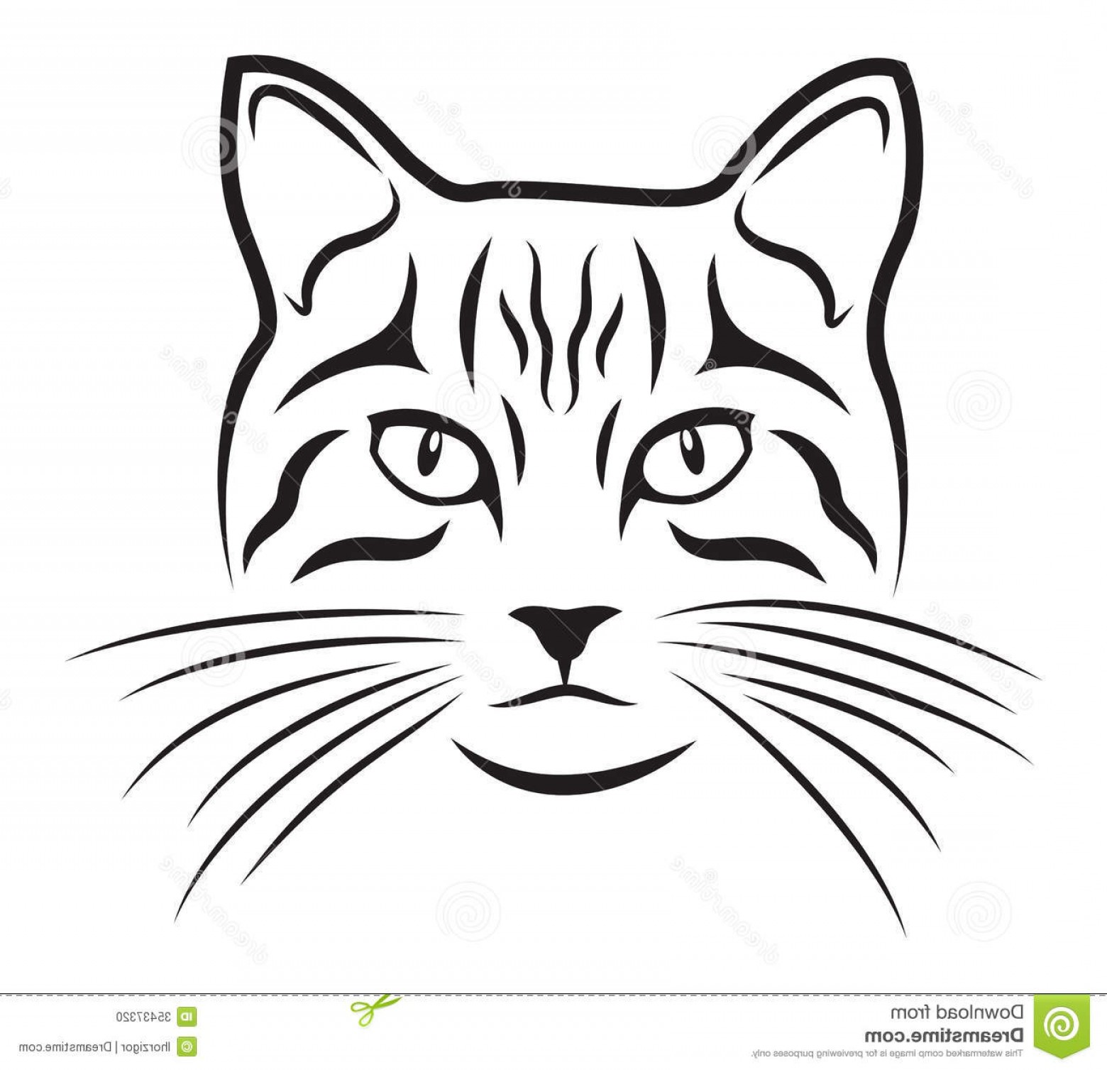 Malee Cat Head Silhouette Vector: Stock Photo Cat Black Silhouette White Background Image