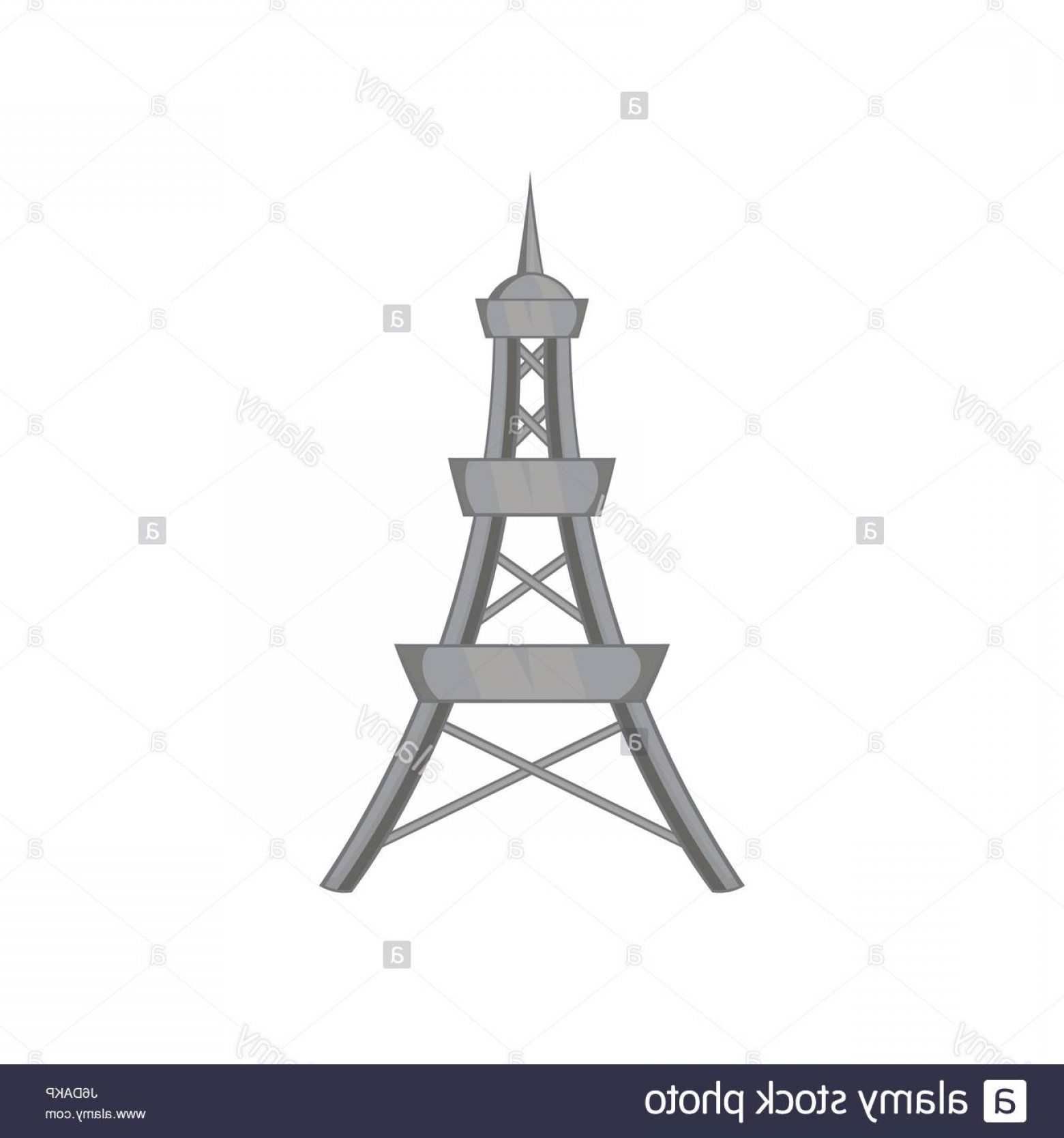 Vector Phone Tower: Stock Photo Cell Phone Tower Icon Black Monochrome Style