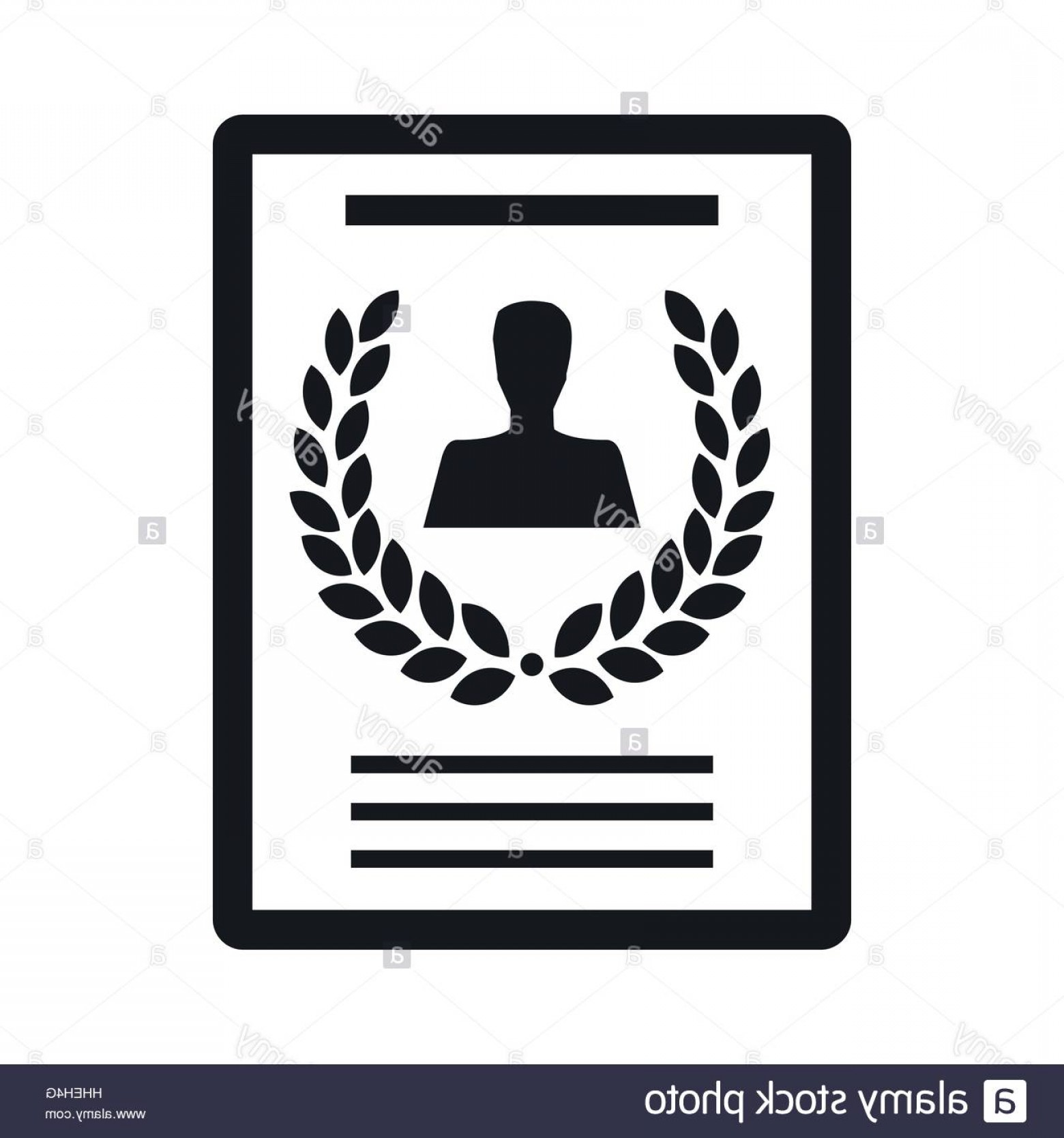 Diploma Icon Vector: Stock Photo Certificate Diploma Charter Icon Simple Style