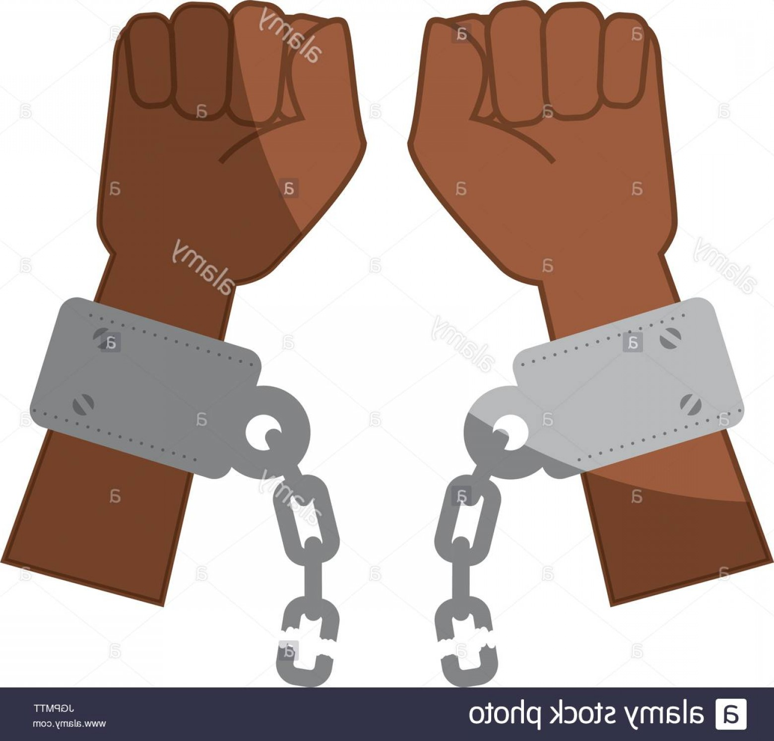 Chain And Lock Glove Vector: Stock Photo Chain Of Slavery