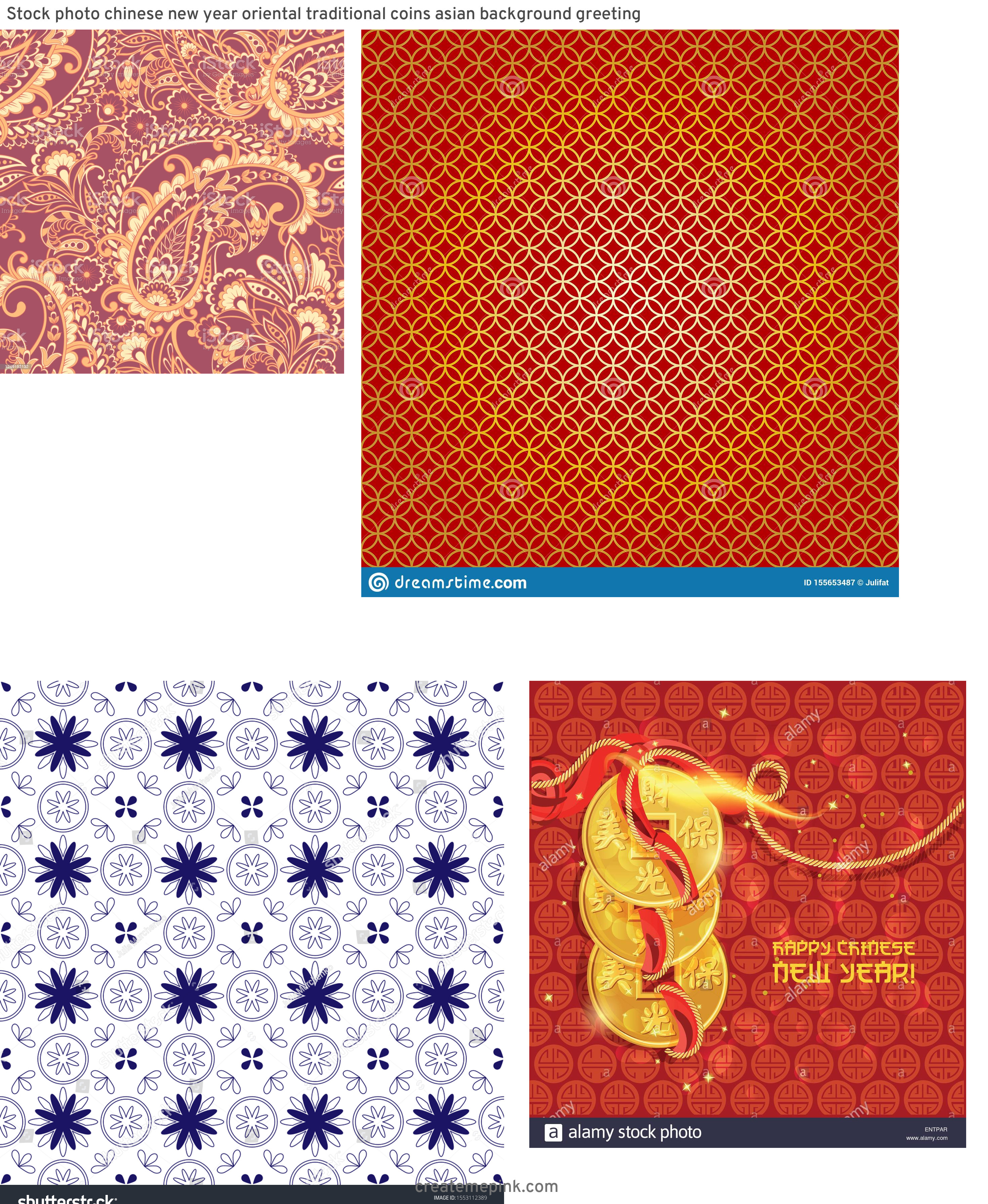 Asian Background Vector: Stock Photo Chinese New Year Oriental Traditional Coins Asian Background Greeting