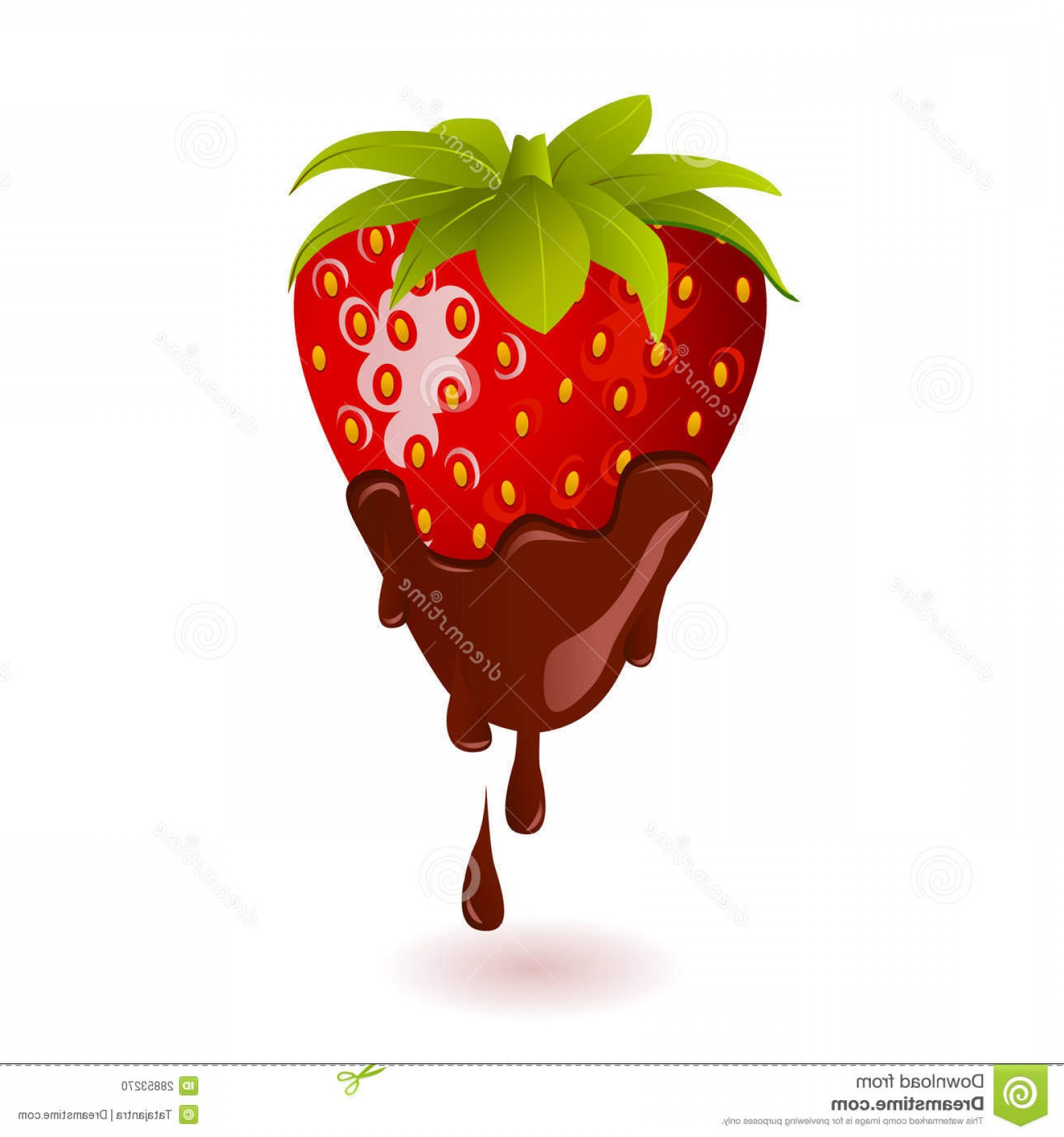 Chocolate Clip Art Vector: Stock Photo Chocolate Dipped Strawberry Image