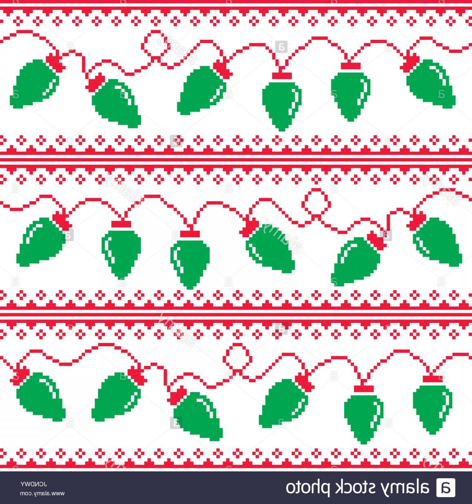 Christmas Sweater Design Vector: Stock Photo Christmas Tree Lights Seamless Pattern Ugly Christmas Sweater Style