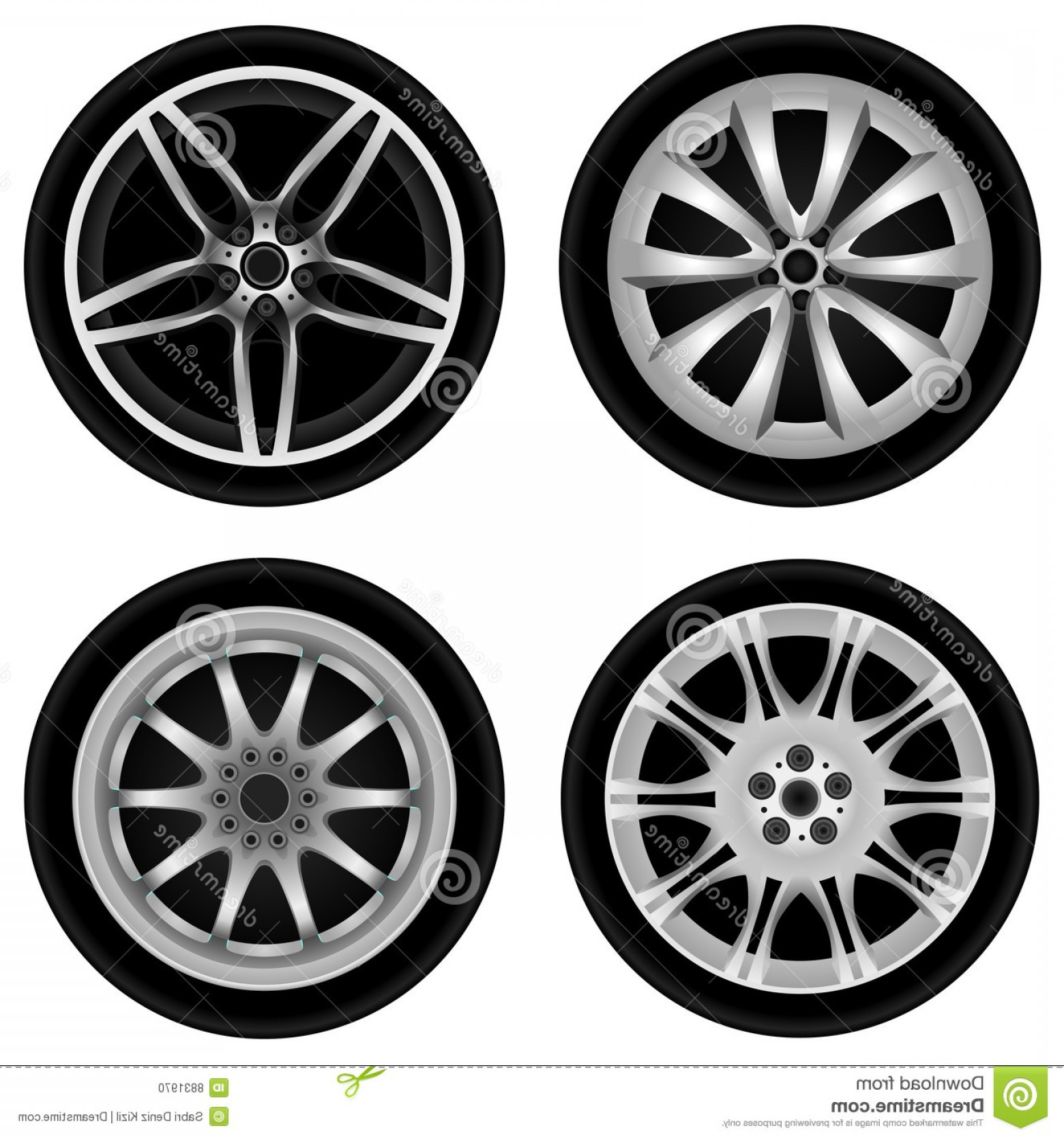 MB Wheels Vector Chrome: Stock Photo Chrome Wheel Vector Image