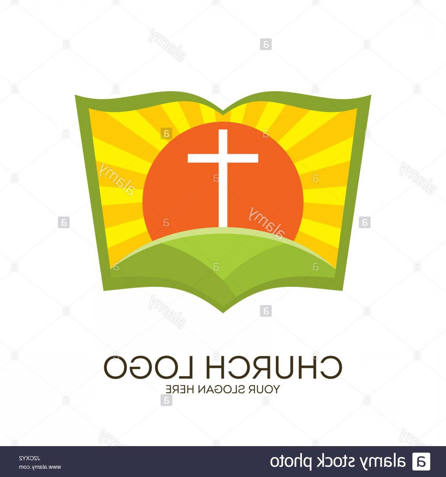 Christian Vector Sun: Stock Photo Church Logo Christian Symbols Bible Sun And Cross