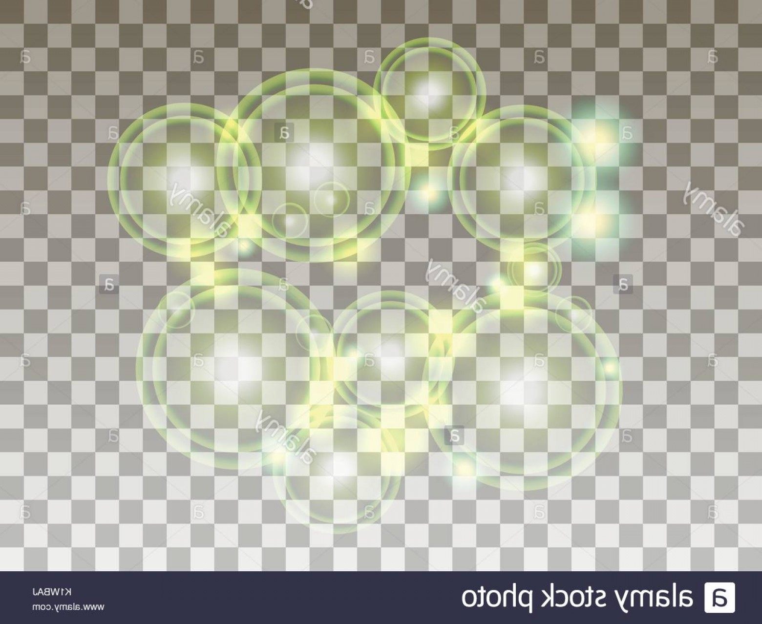 Vector Bubbles Circle: Stock Photo Circles On A Transparent Background Bubbles Are Green Bright Spheres