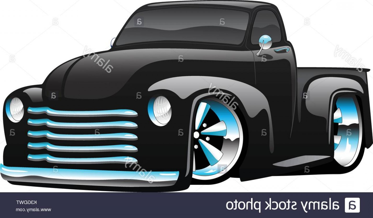 Race Car Grill Vector: Stock Photo Classic Muscle Car Hot Rod Cartoon Illustration