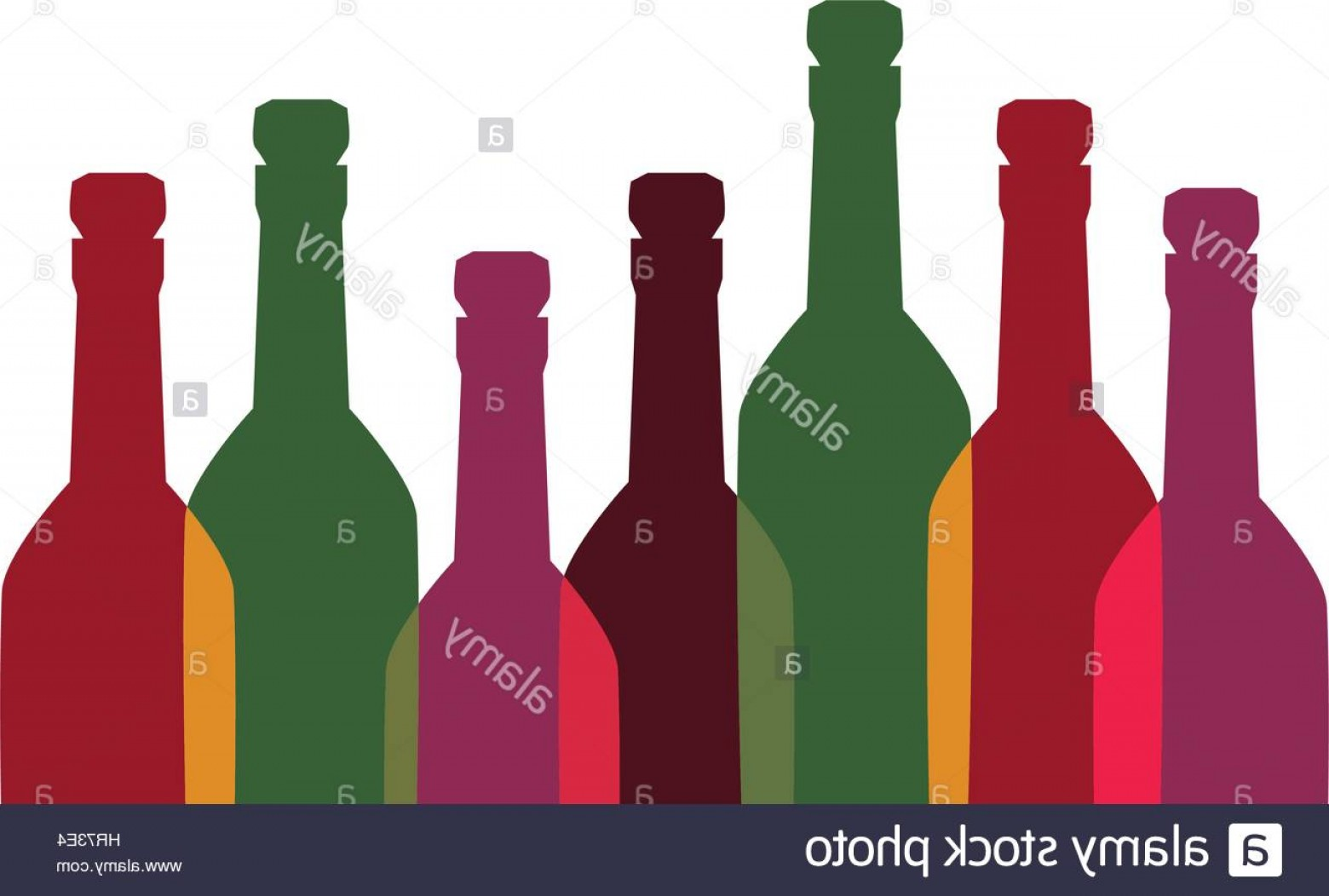 Booze Bottle Vector: Stock Photo Color Background With Set Of Liquor Bottles