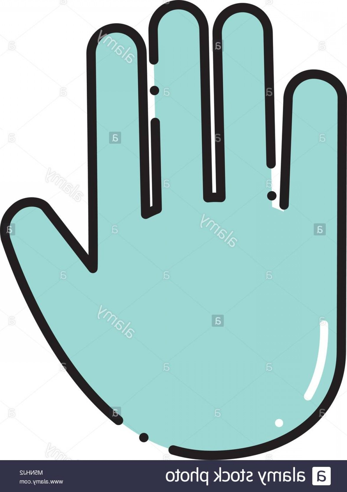 Hand Stop Vector Teal: Stock Photo Color Emoji Hand Stop Gesture Expression