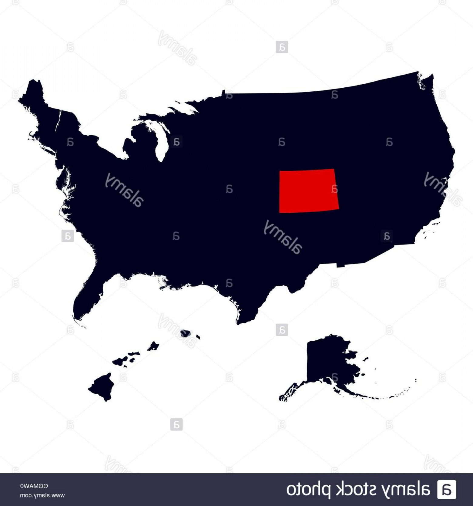 Colorado State Vector Maps: Stock Photo Colorado State In The United States Map