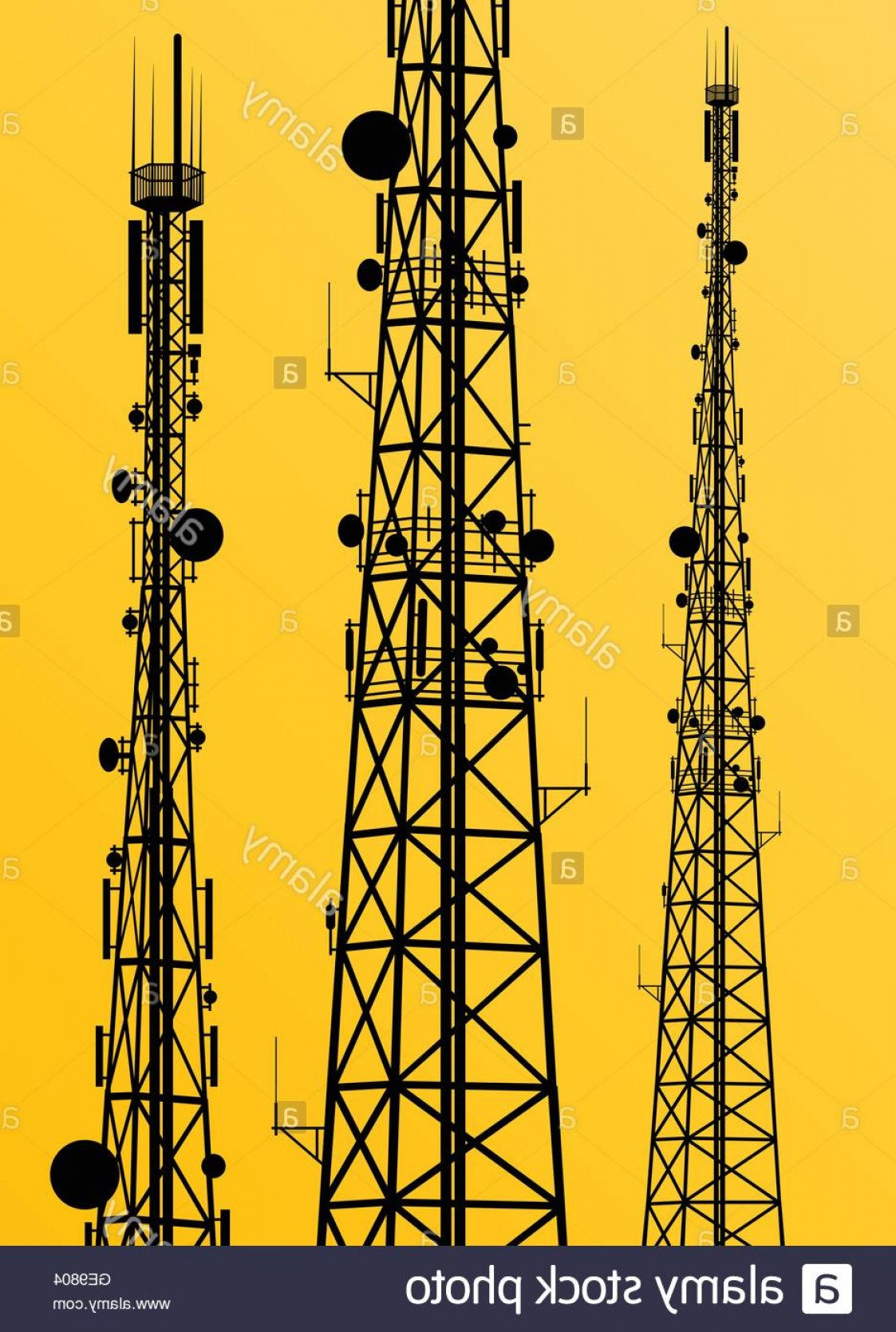 Vector Phone Tower: Stock Photo Communication Transmission Tower Radio Signal Phone Antenna Vector