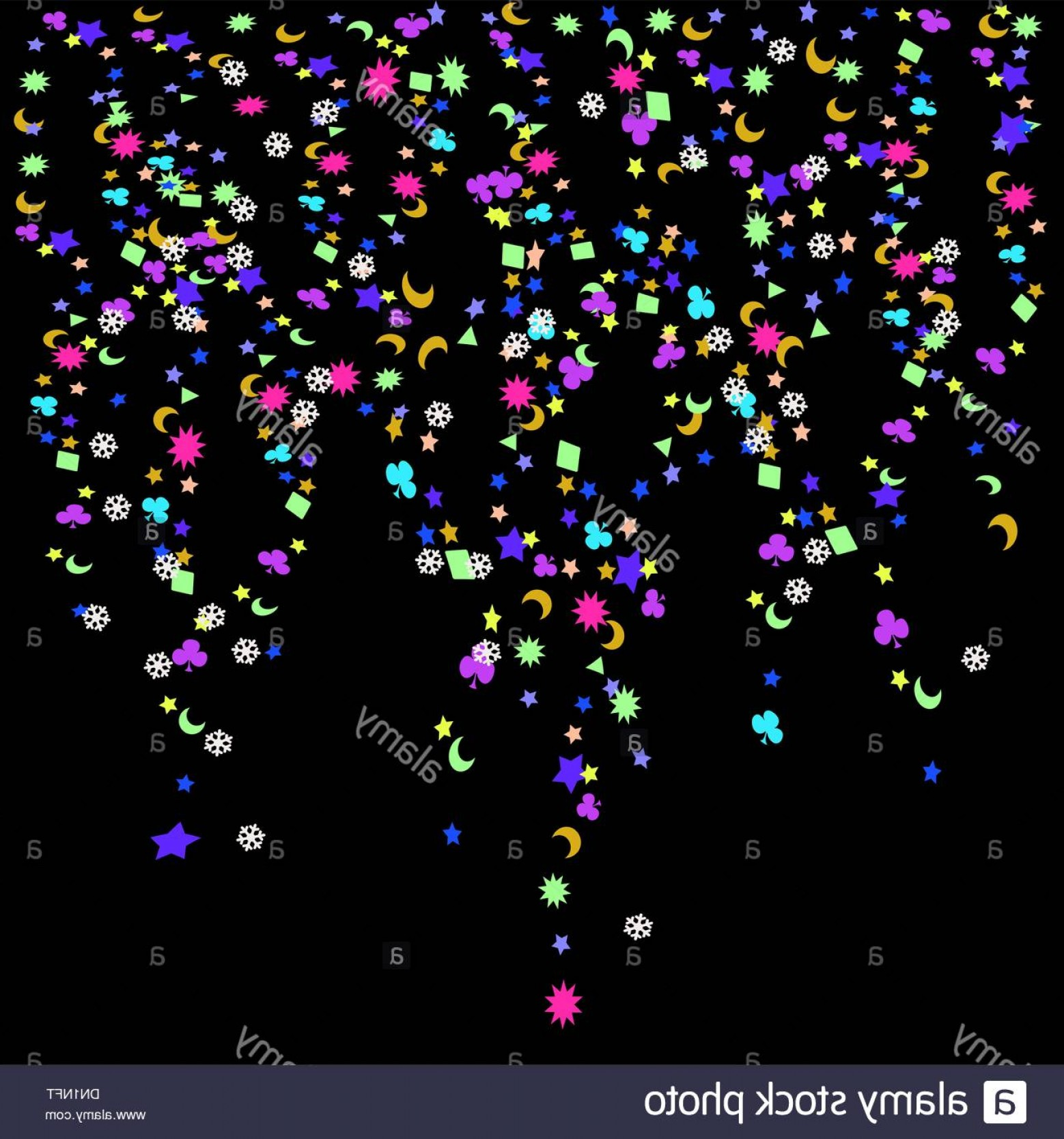 Vector New Year's Eve: Stock Photo Confetti New Years Celebration Background