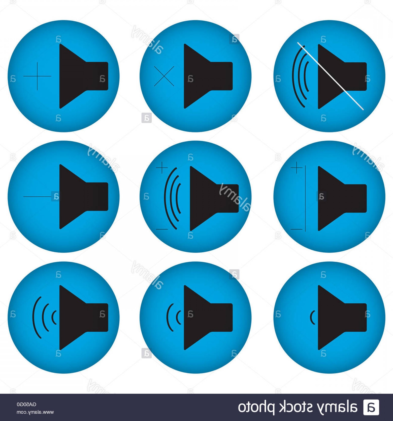 Volume Button Vector: Stock Photo Controls Sound Set Flat Round Sound Icon And Volume Button Vector