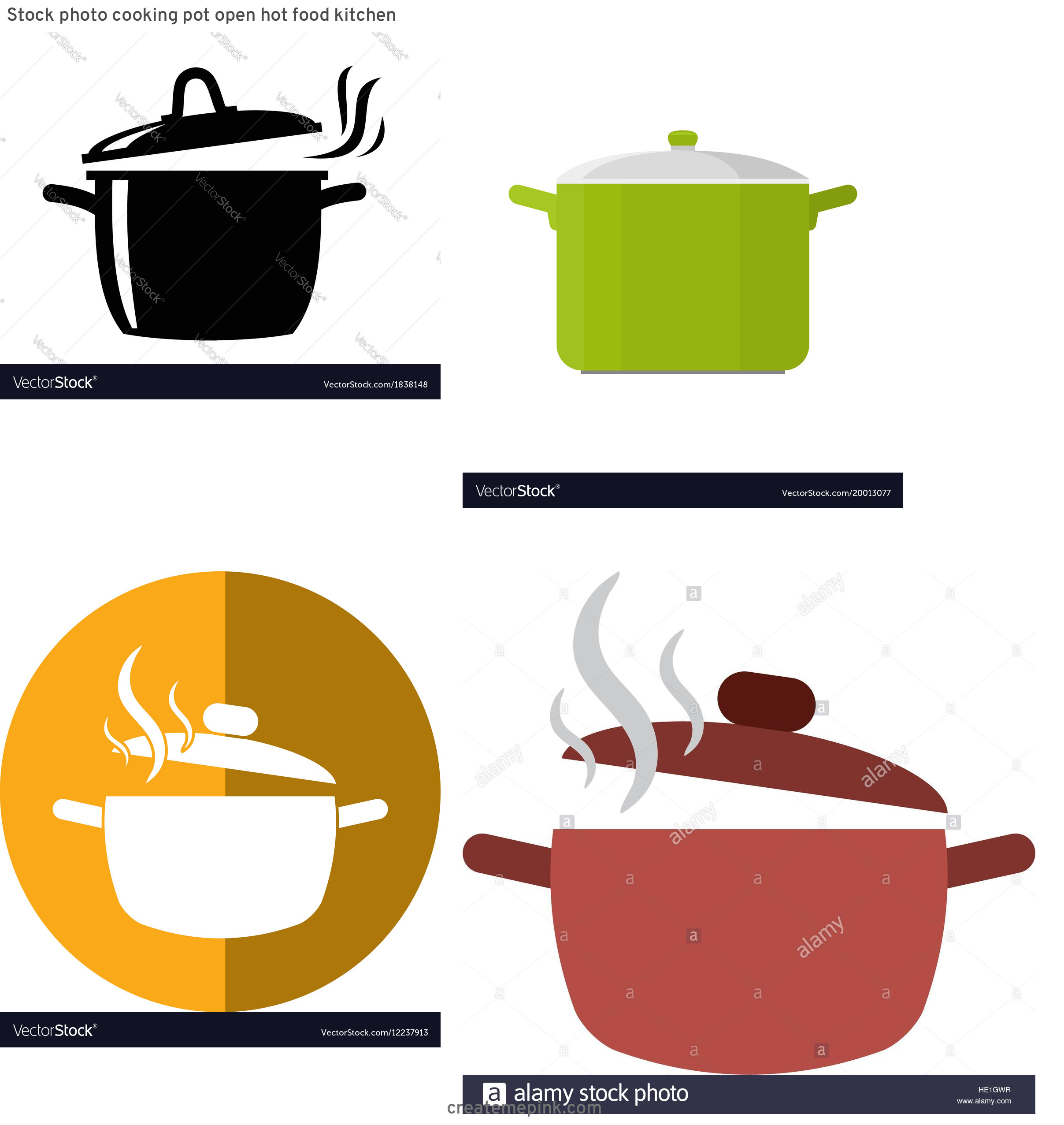 Cook Pot Vector: Stock Photo Cooking Pot Open Hot Food Kitchen