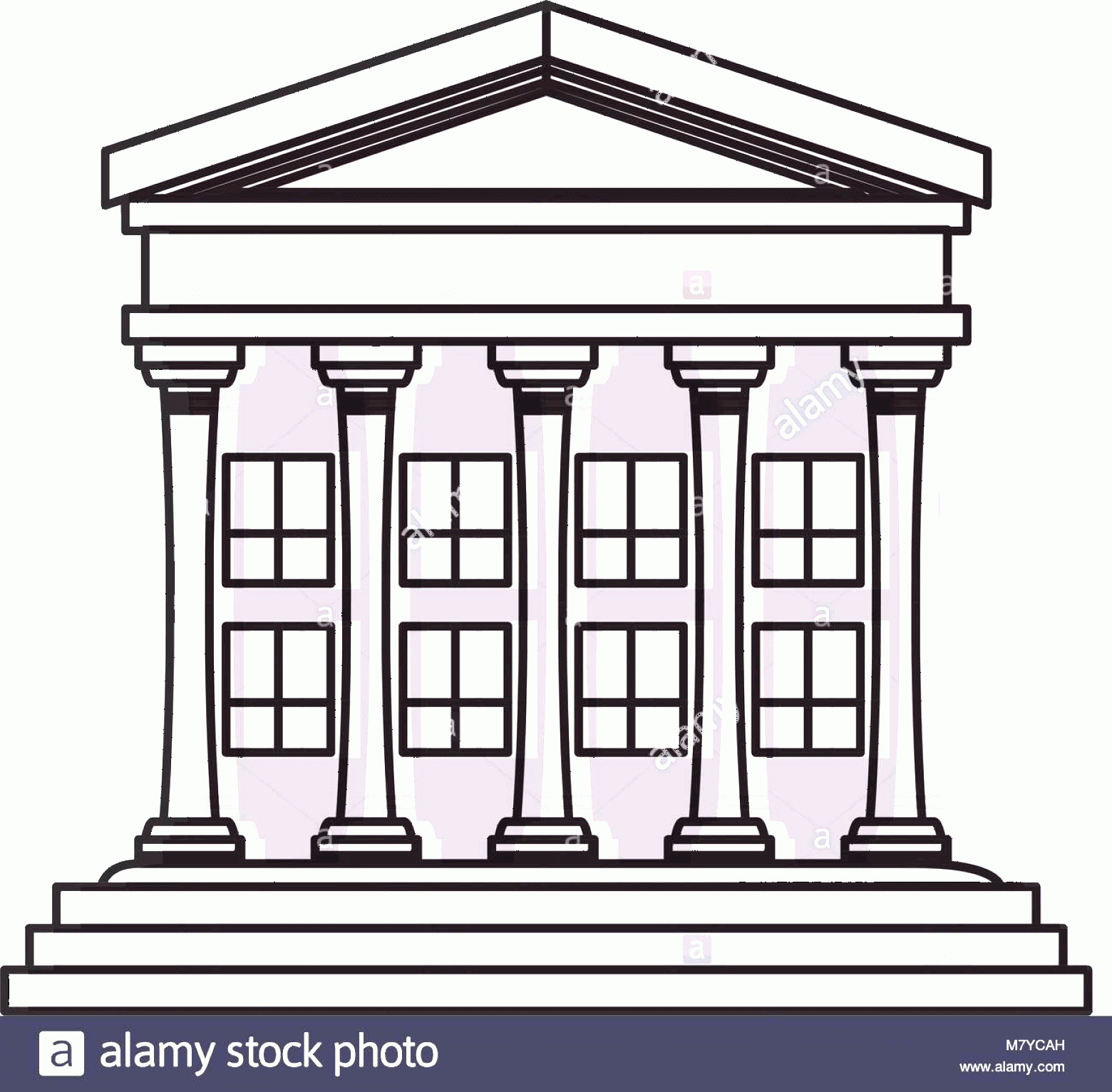 Court Building Vector: Stock Photo Court Building Icon Over White Background Colorful Design Vector Illustration