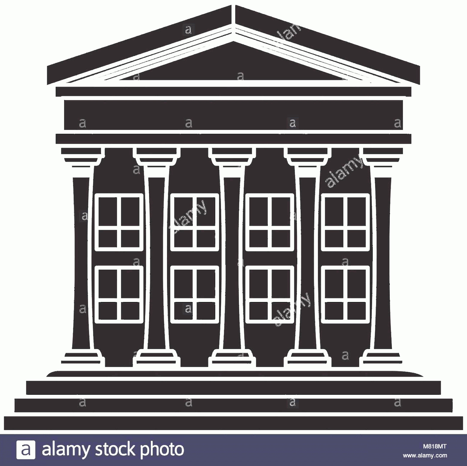 Court Building Vector: Stock Photo Court Building Icon Over White Background Vector Illustration
