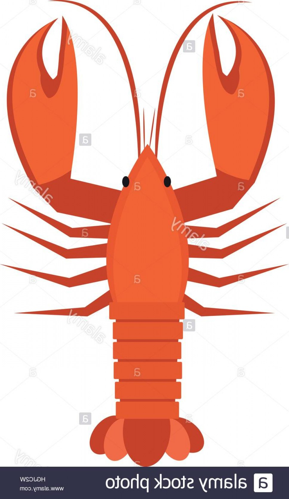 Lobster Clip Art Vector: Stock Photo Crawfish Icon Flat Style Lobster Isolated On White Background Vector