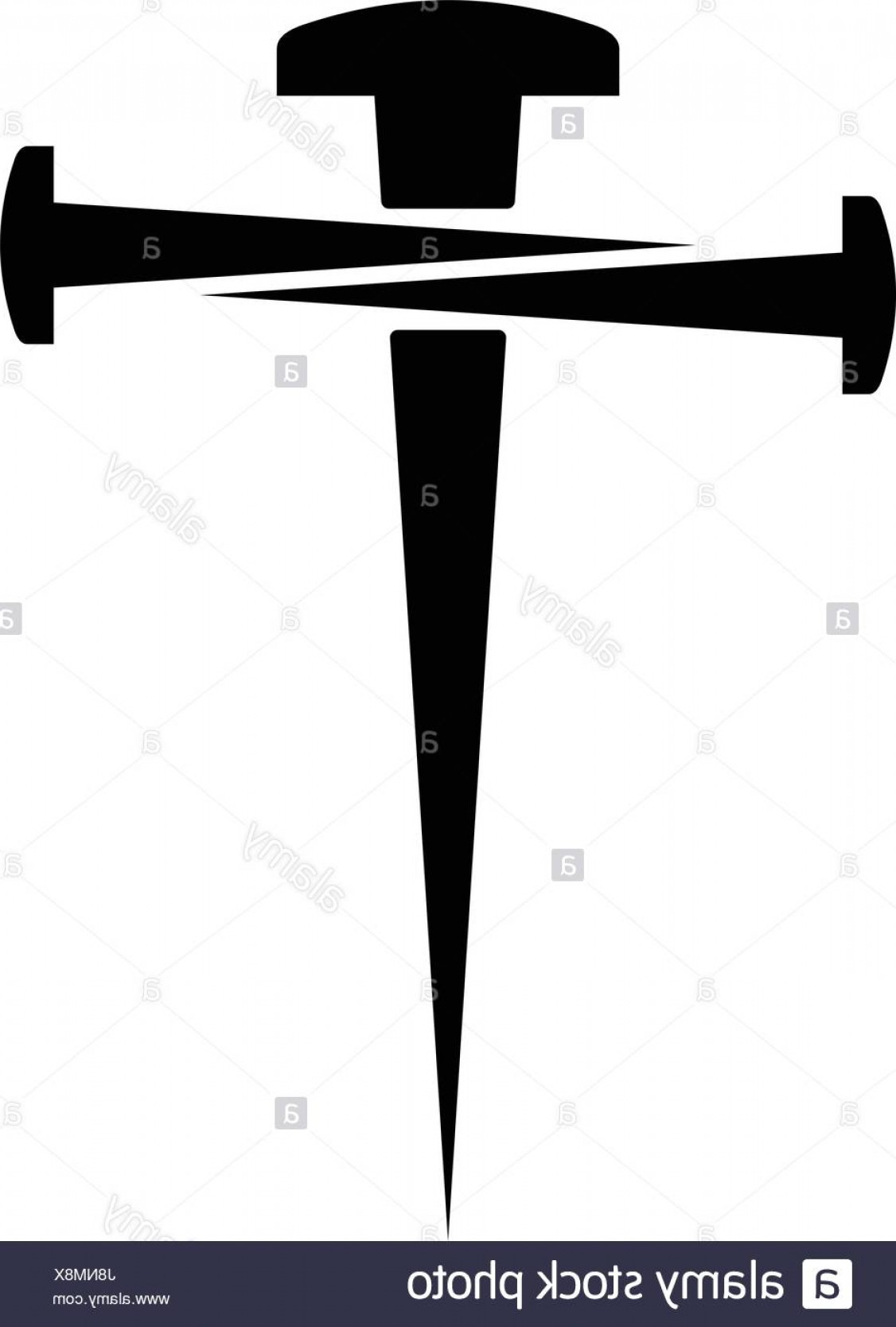 Nail Cross Vector: Stock Photo Cross Of Nails On White Background Symbol Of Golgotha