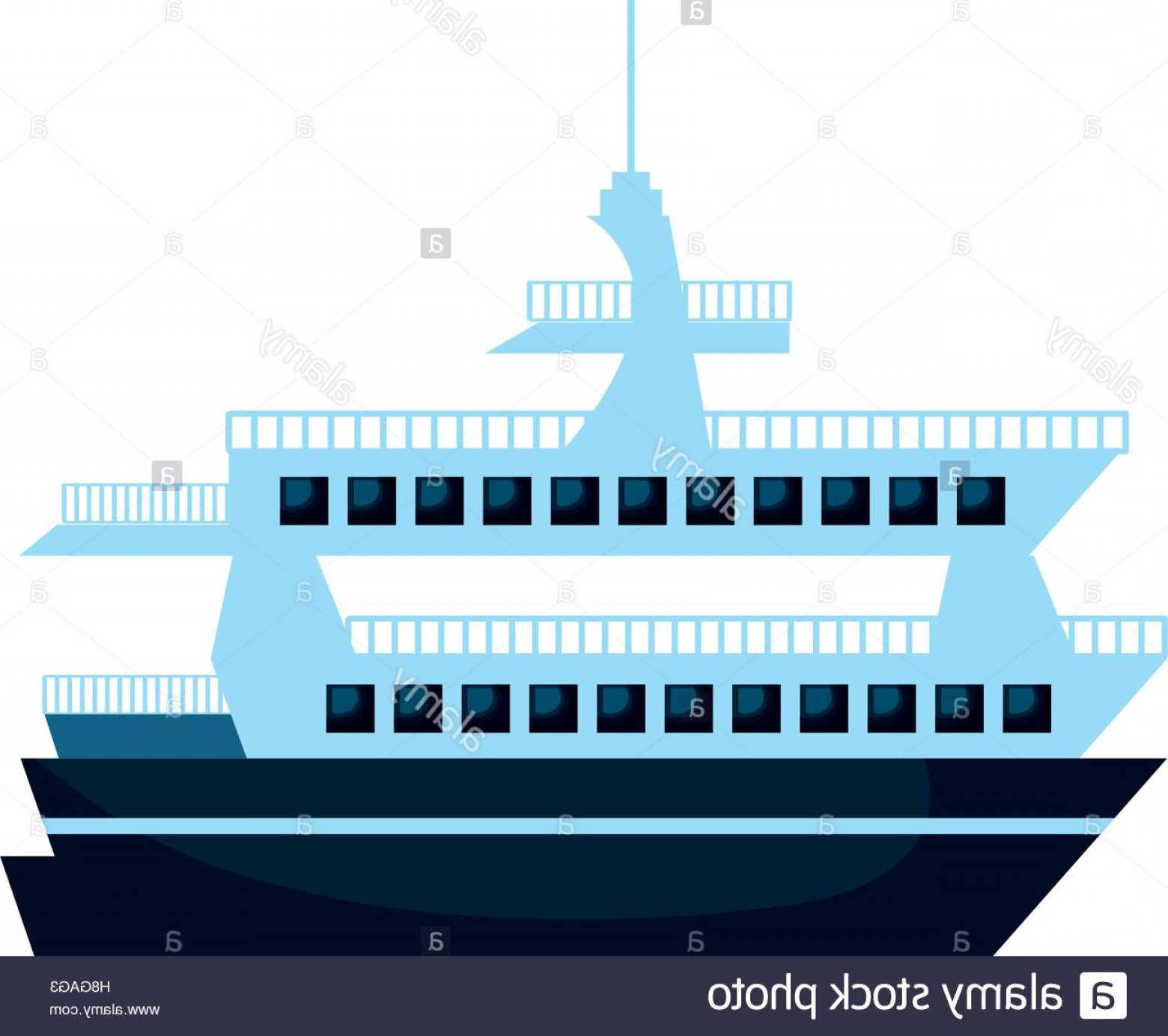 Waves With Cruise Ship Silhouette Vector: Stock Photo Cruise Ship Silhouette Isolated Icon Vector Illustration Design