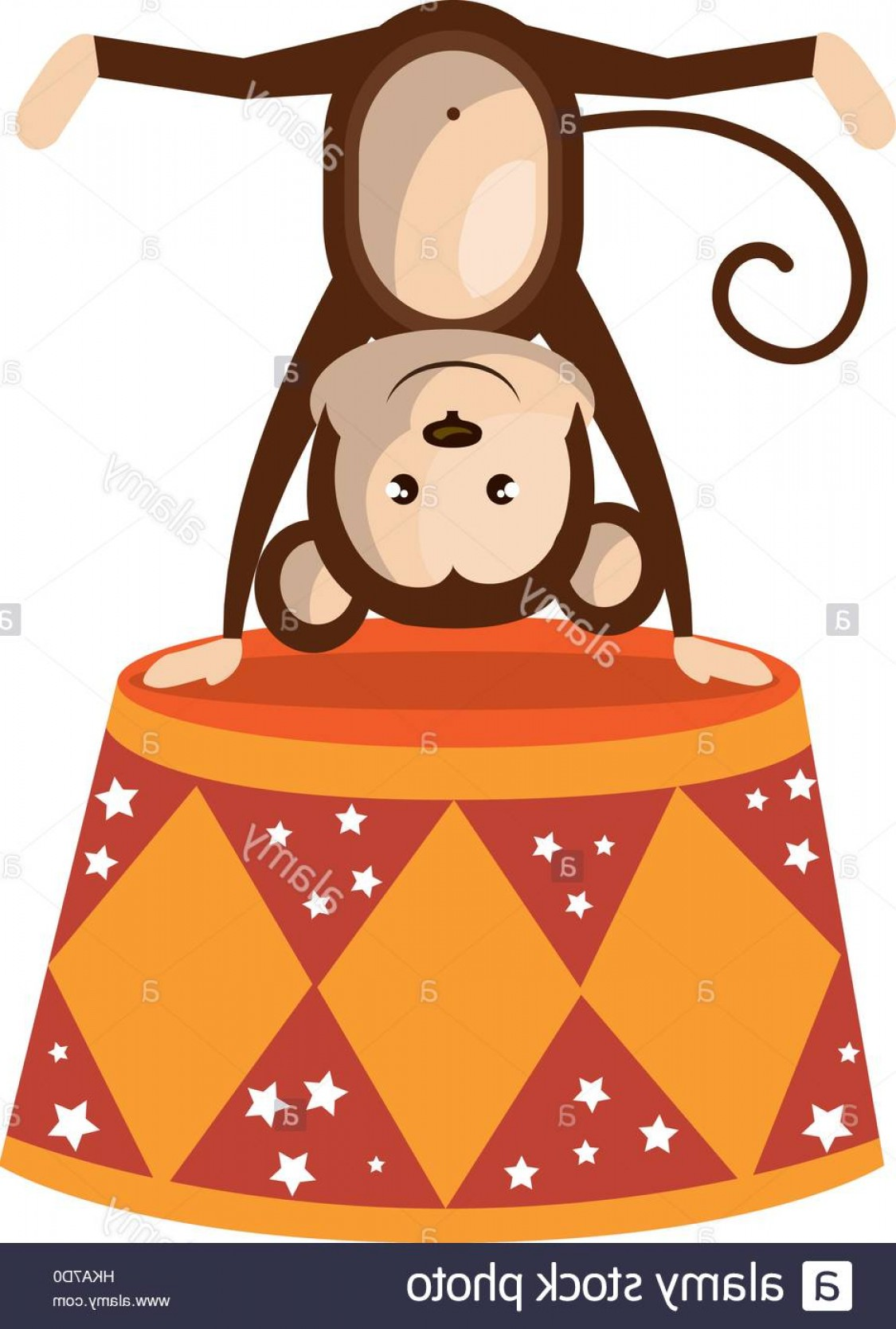 Circus Animals Vector Graphic: Stock Photo Cute Monkey Circus Animal Vector Illustration Design