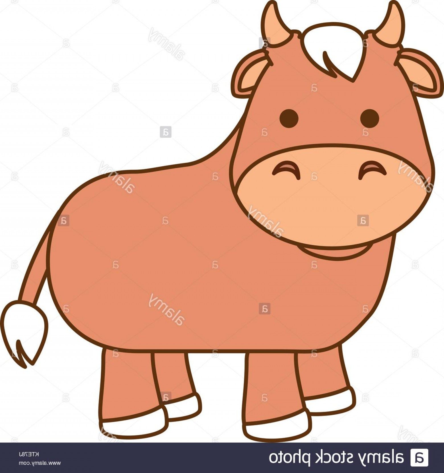 Ox Vector: Stock Photo Cute Ox Character Icon Vector Illustration Design