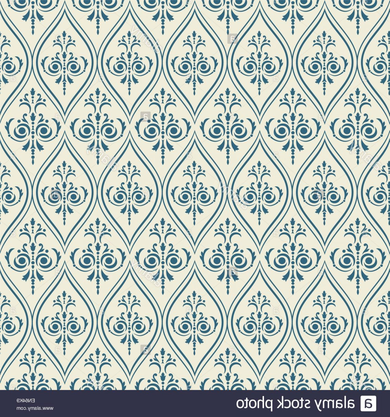 Damask Background Vector Art: Stock Photo Damask Pattern Seamless Vintage Background Vector Illustration