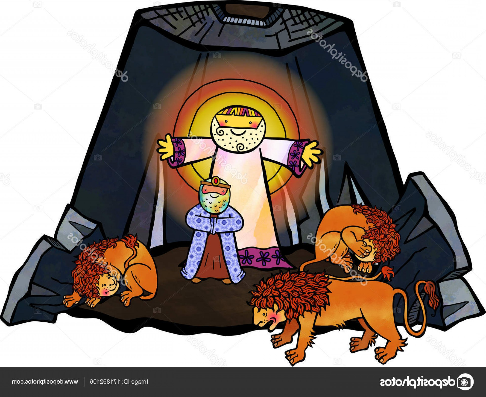 Faith Lions Vector Art Images: Stock Photo Daniel In The Lions Den