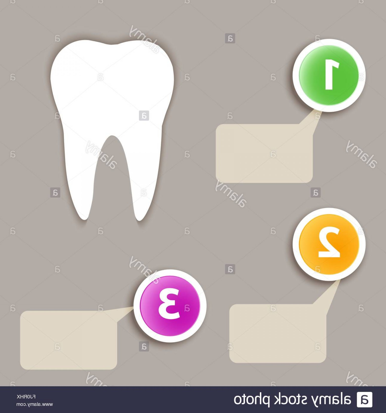Digital Vector Silhouette: Stock Photo Dental Infographics White Tooth Silhouette On Gray Backdrop Digital