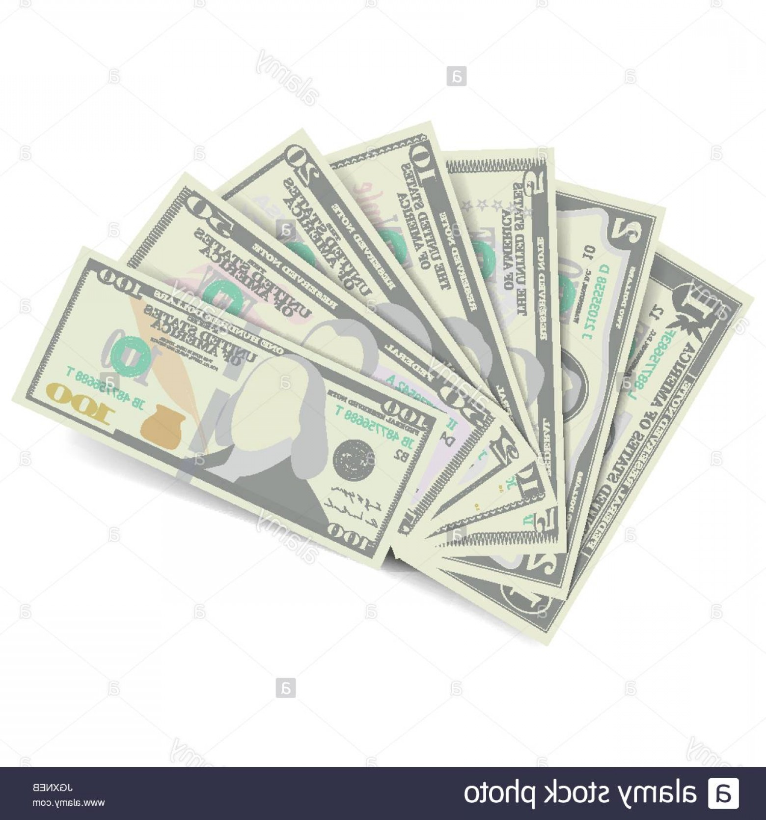 Hundreds Of Money Stacks Vector: Stock Photo Dollars Banknote Stack Vector American Money Bill Isolated Illustration