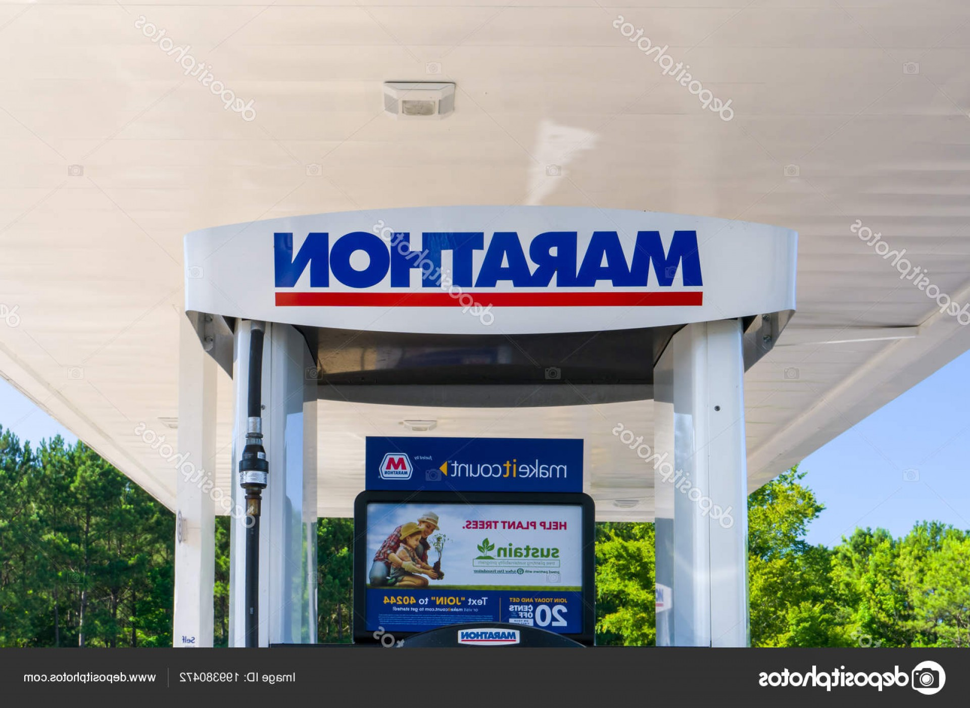 Marathon Oil Logo Vector: Stock Photo Douglasville Usa June Marathon