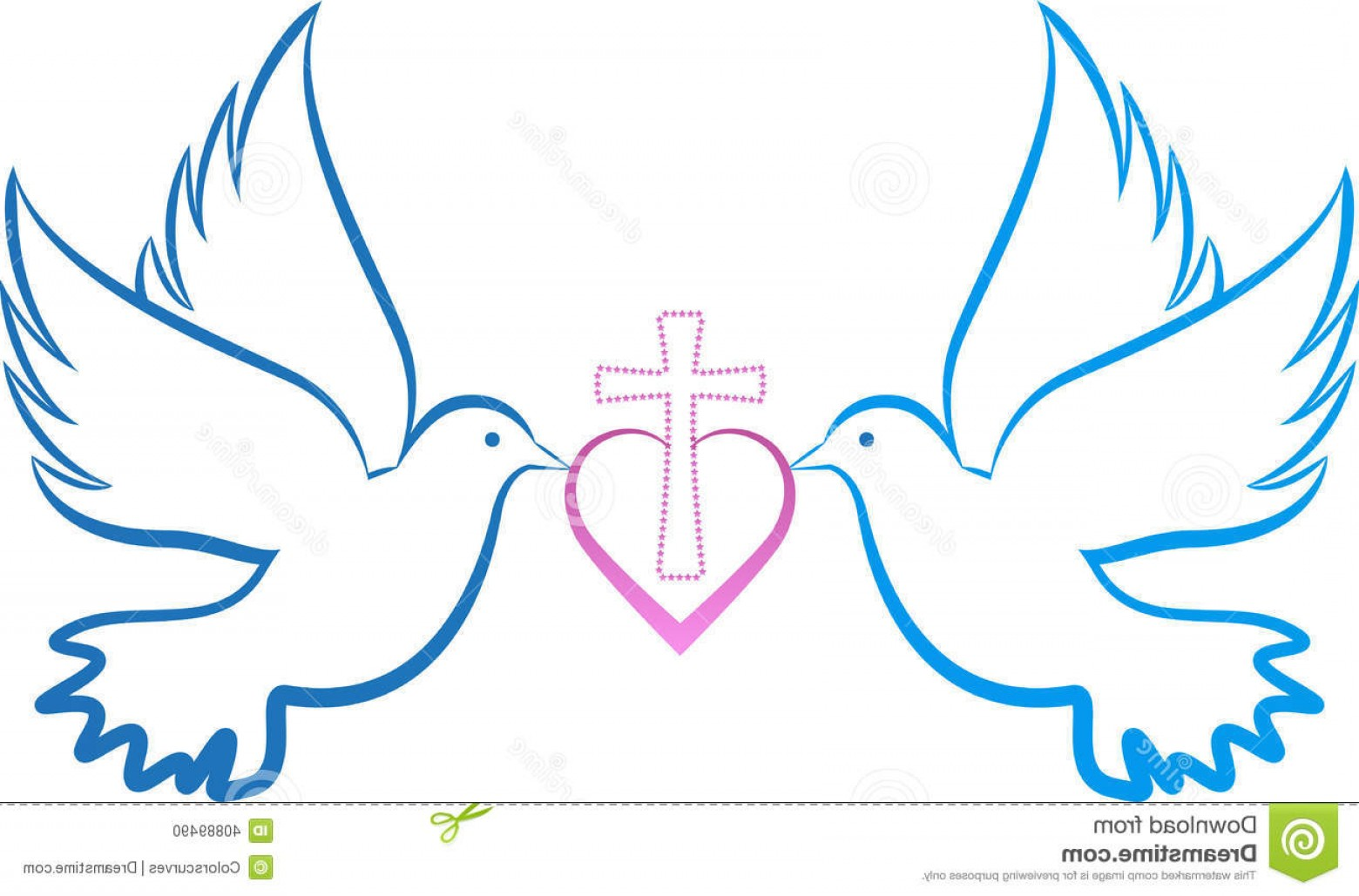 Vector Wedding Doves 2: Stock Photo Dove Love Cross Vector Drawing Represents Design Image