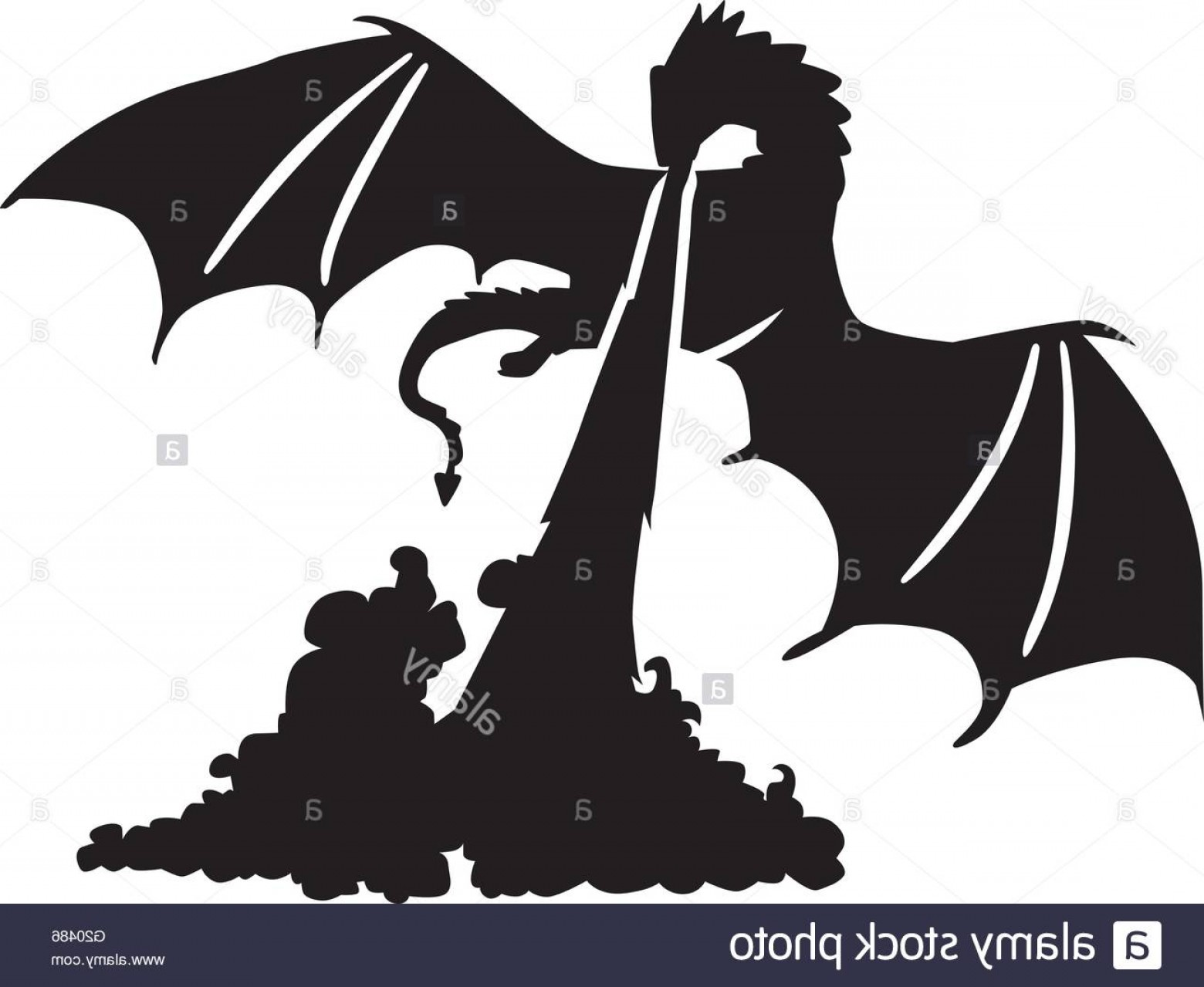 Dragon Fire Vector: Stock Photo Dragon Breathing Fire