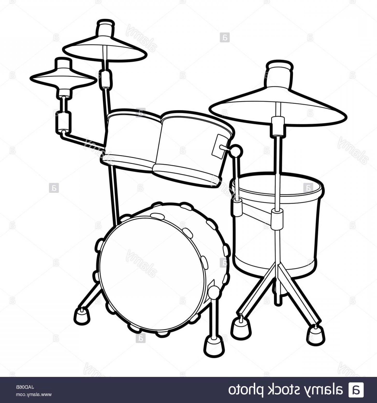 Drum Vector Art: Stock Photo Drum Icon Outline Isometric Illustration Of Drum Vector Icon For Web