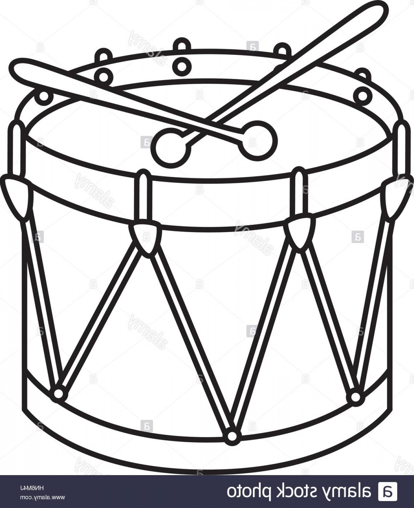 Drum Vector Art: Stock Photo Drum Instrument Isolated Icon Vector Illustration Design