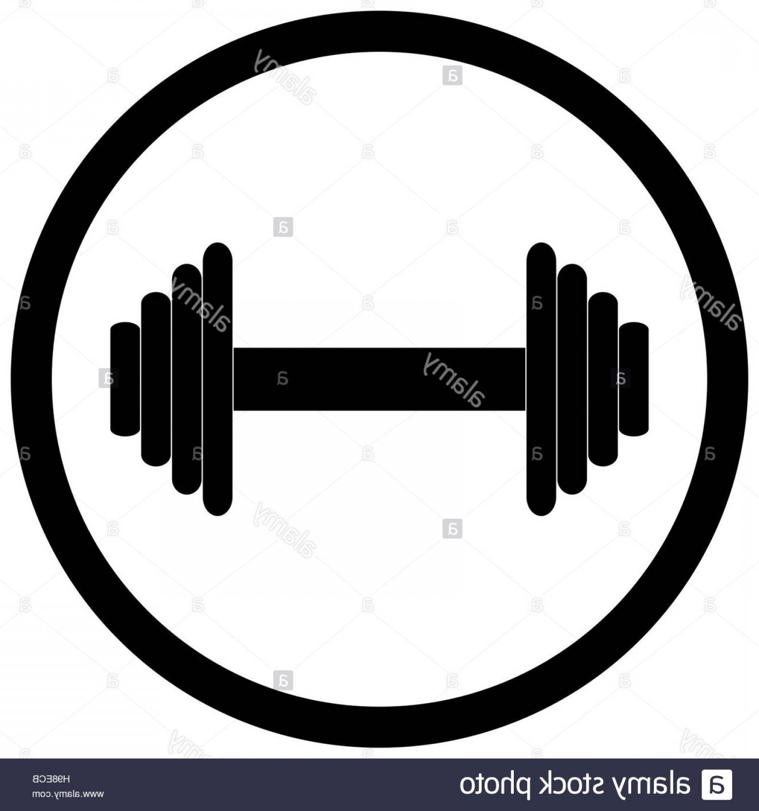 Vector Weight Lifting: Stock Photo Dumbbell Black Icon Weight Lifting Dumbell For Fitness In Gym Vector