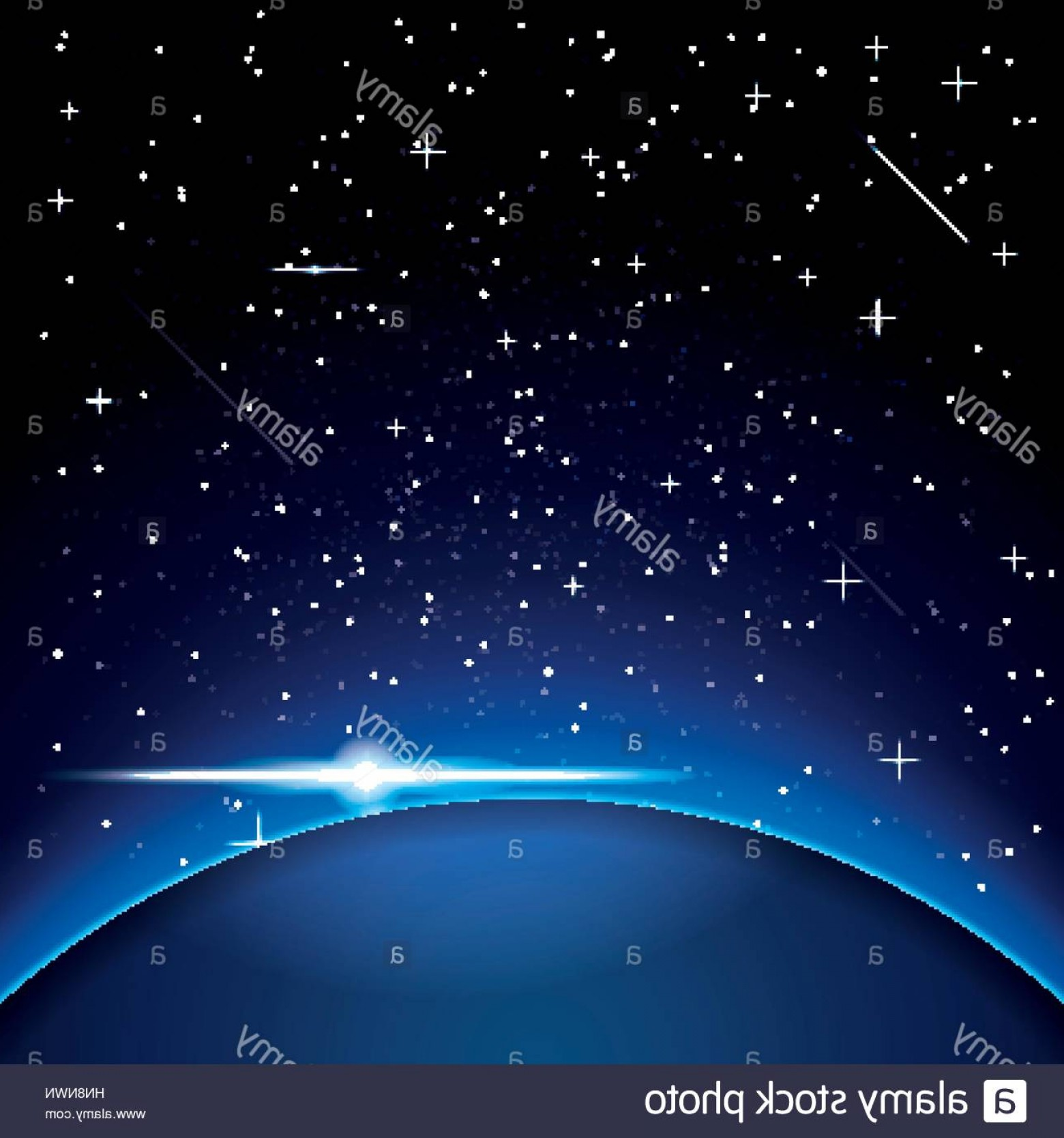 Space Vector Graphics: Stock Photo Earth With Stars Space Vector Illustration