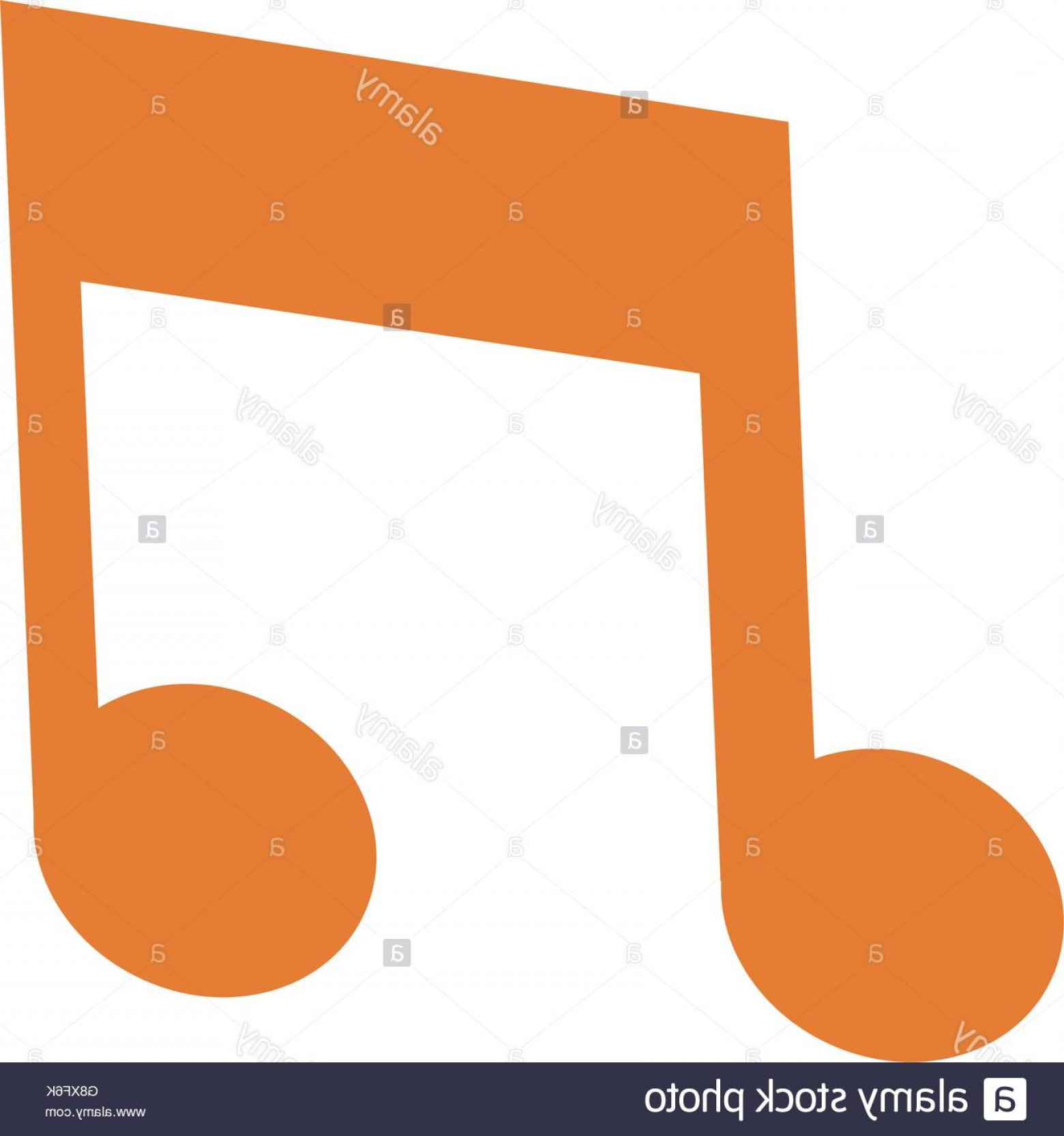 Eighth Note Vector: Stock Photo Eighth Note Icon
